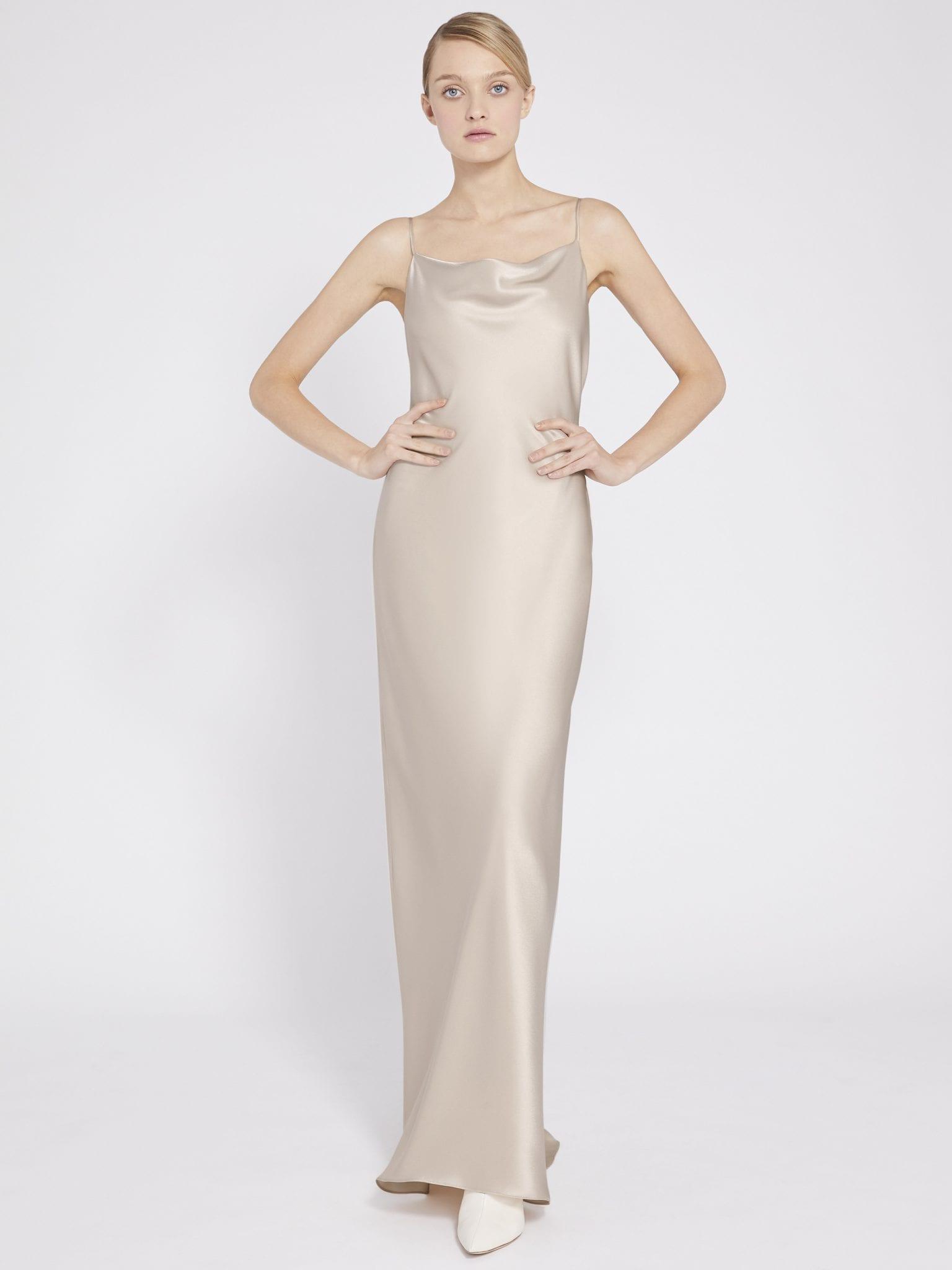 ALICE AND OLIVIA Harmony Drapey Slip Maxi Dress