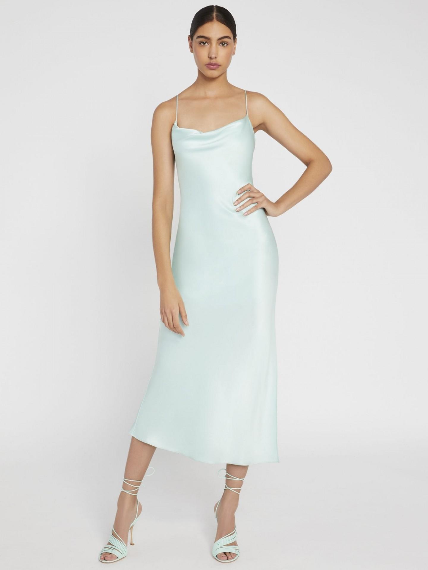 ALICE AND OLIVIA Harmony Slip Midi Dress