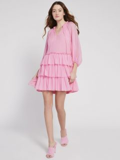 ALICE AND OLIVIA Layla Tiered Ruffle Mini Dress