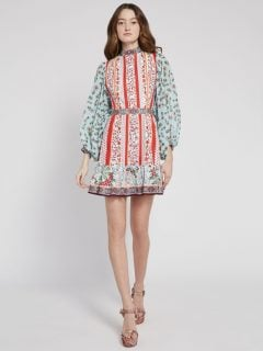 ALICE AND OLIVIA Raya Floral Mini Dress