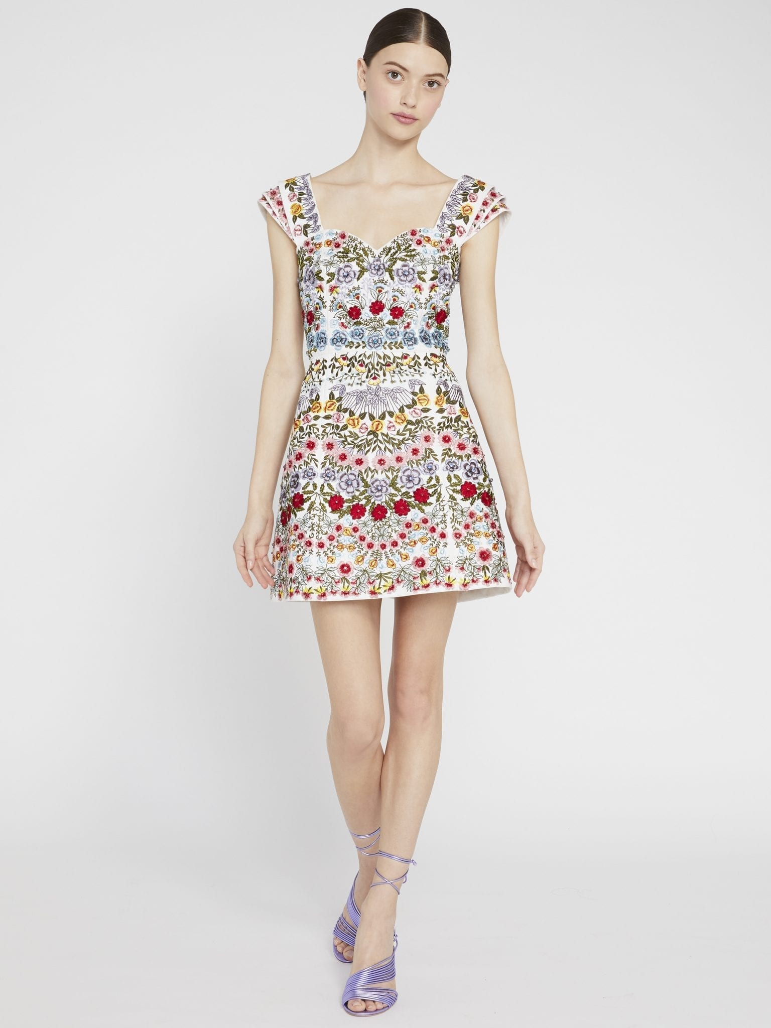 ALICE AND OLIVIA Roz Beaded Party Mini Dress