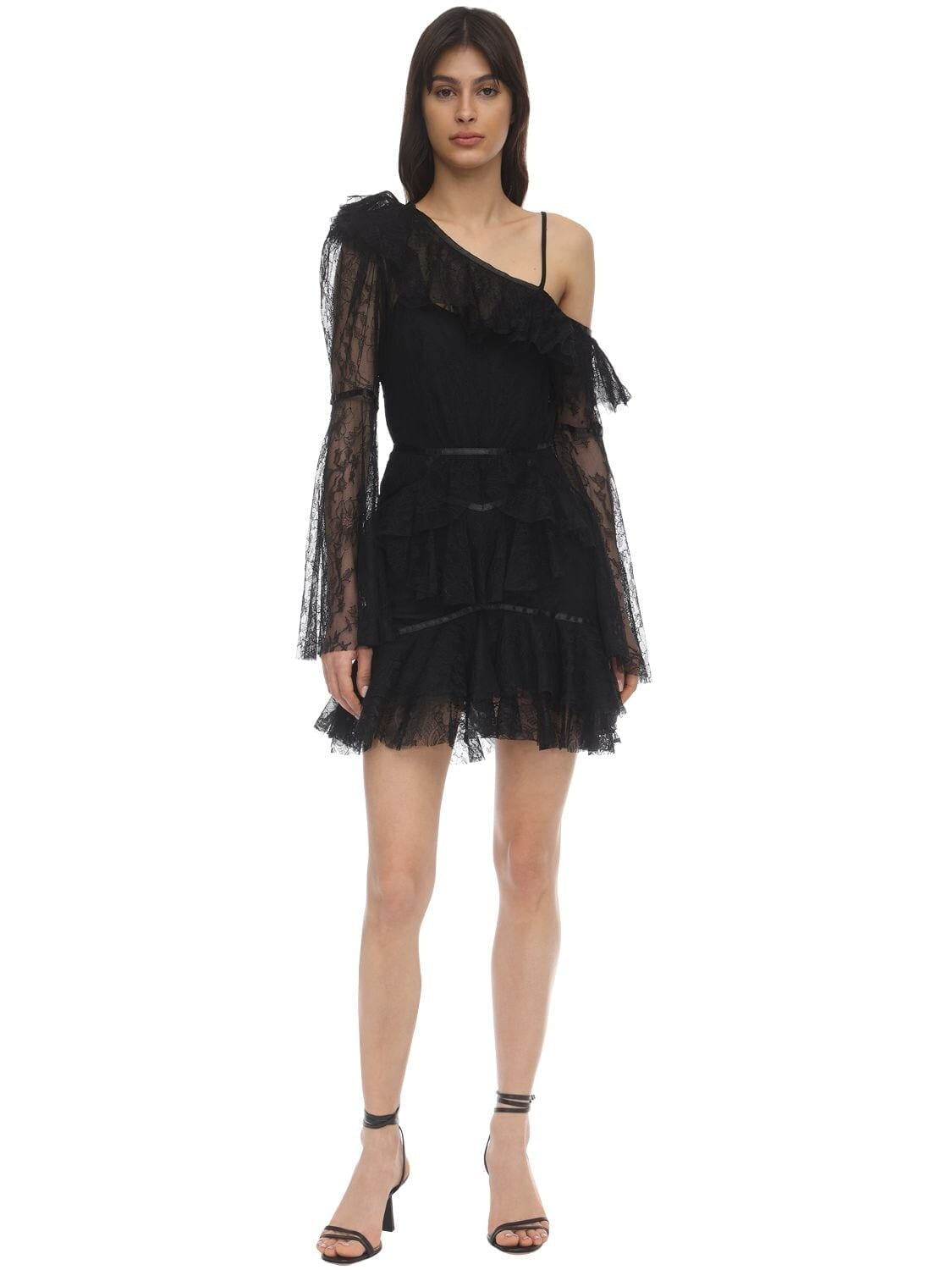 ALICE MCCALL Shadow Love Chantilly Lace Mini Dress