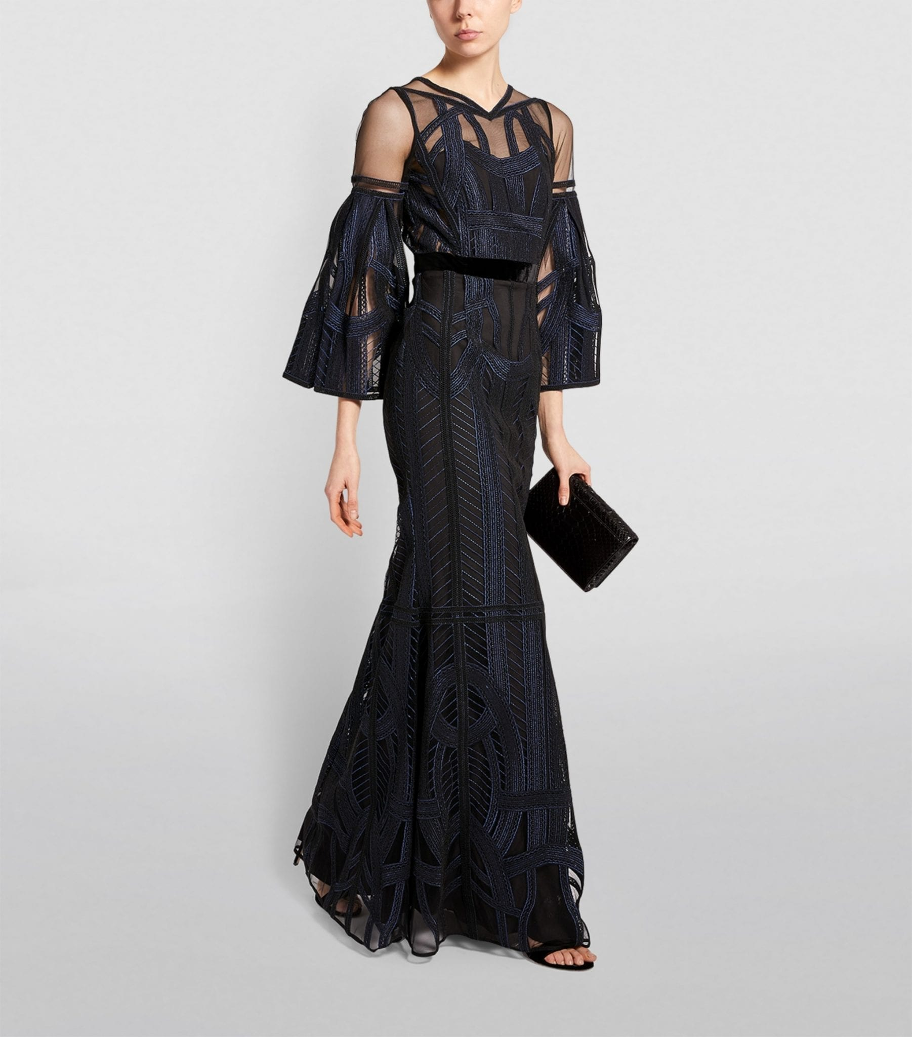 AMANDA WAKELEY Embroidered Maxi Dress