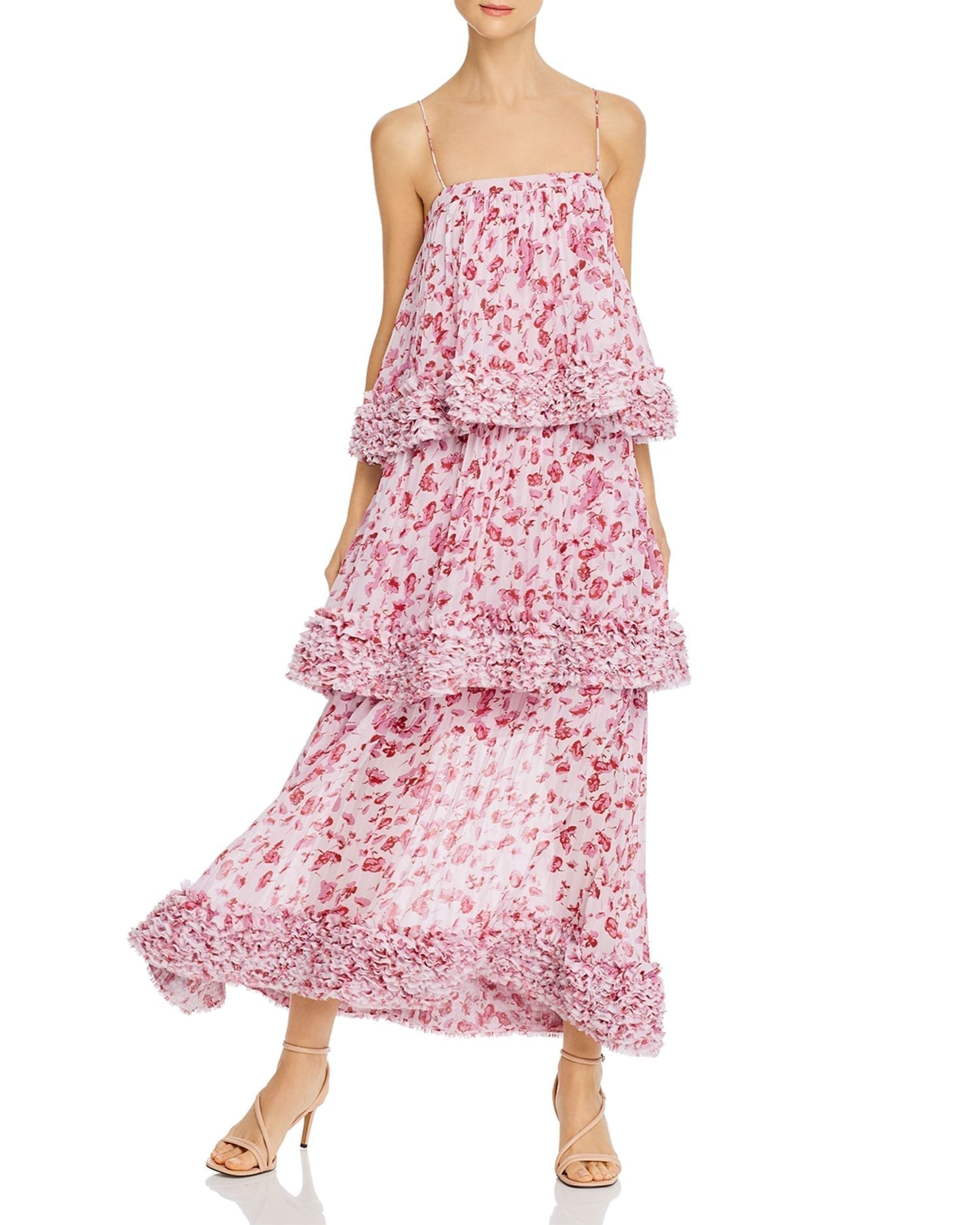 AMUR Tiered Floral Gown