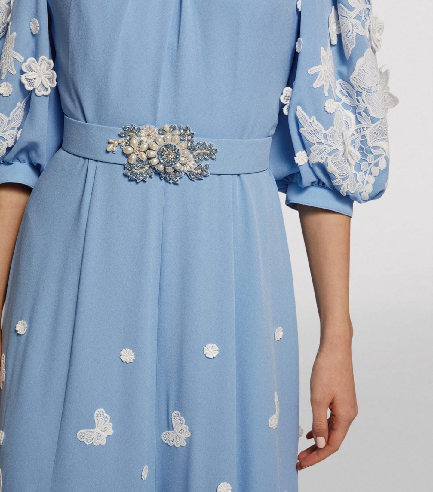 ANDREW GN Floral Appliqué Gown