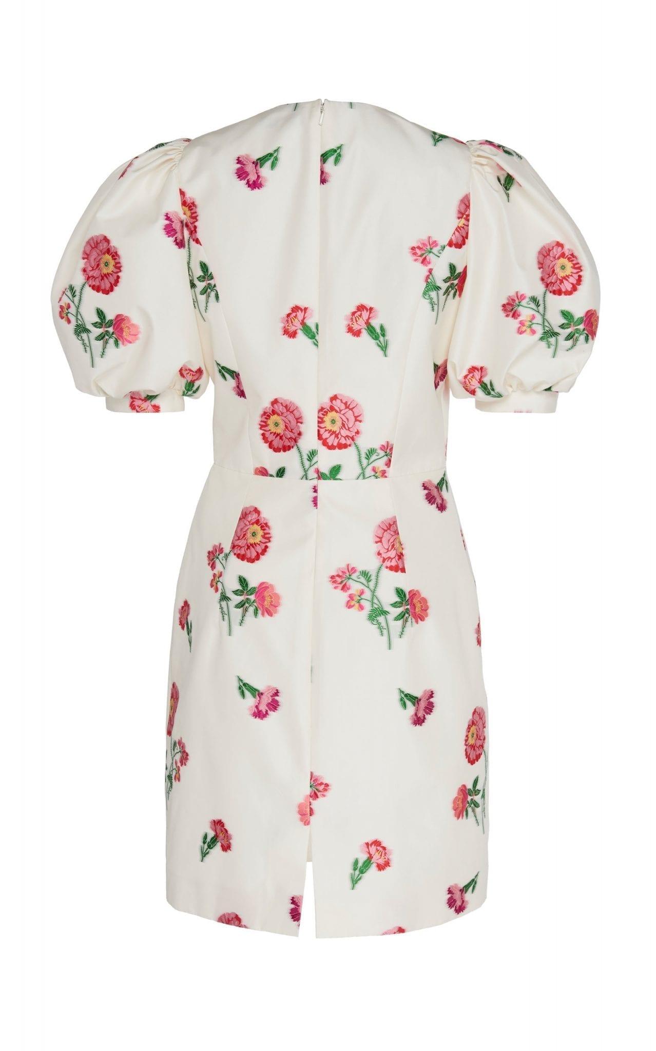 ANDREW GN Floral-Print Satin Mini Dress