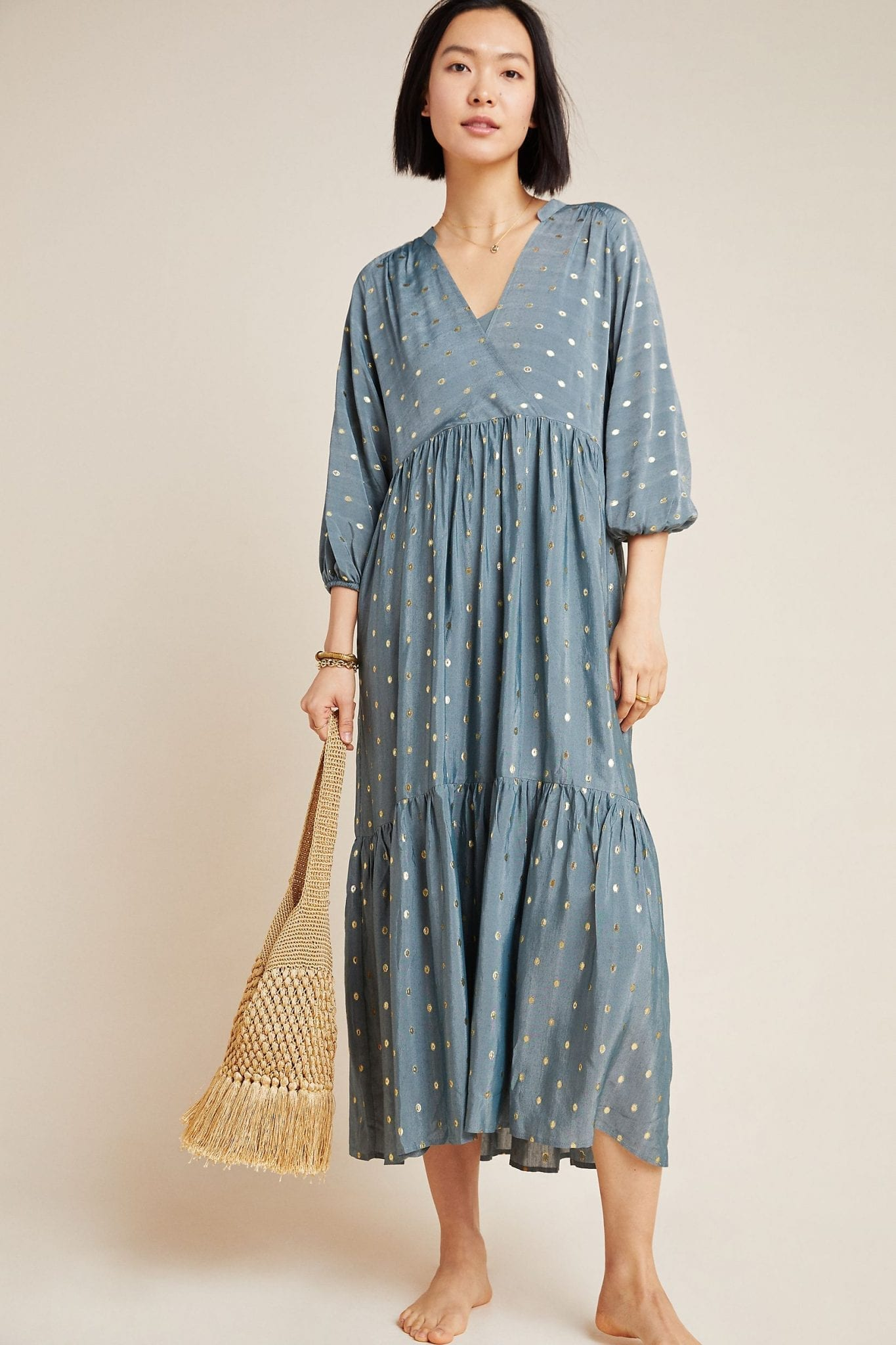 ANTHROPOLOGIE Napoli Tiered Maxi Dress