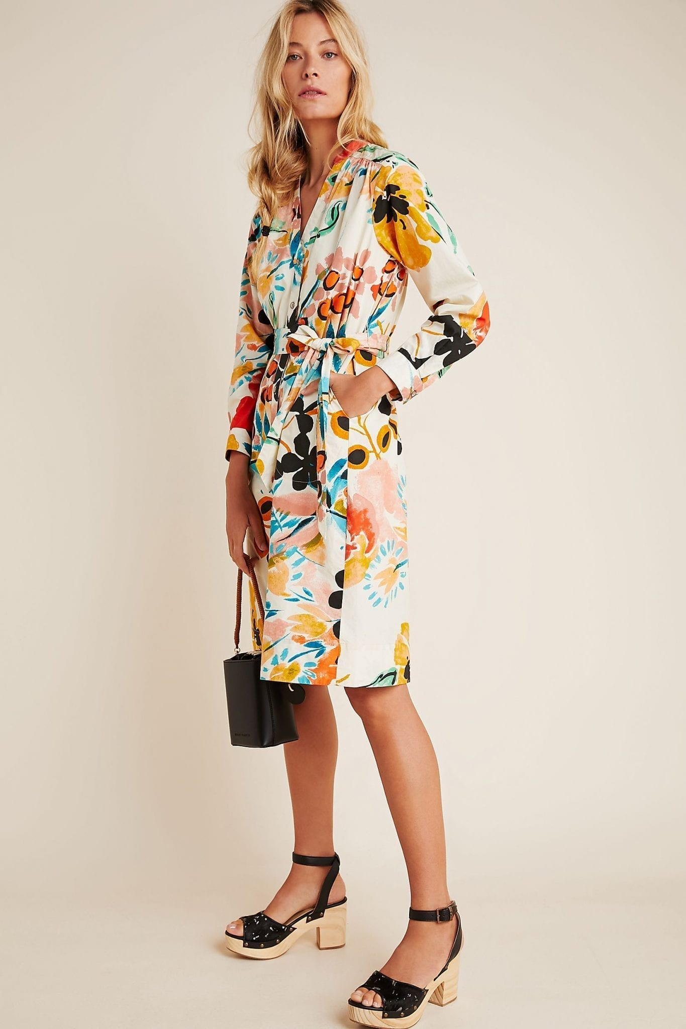 ANTHROPOLOGIE Rilke Poplin Shirt Dress