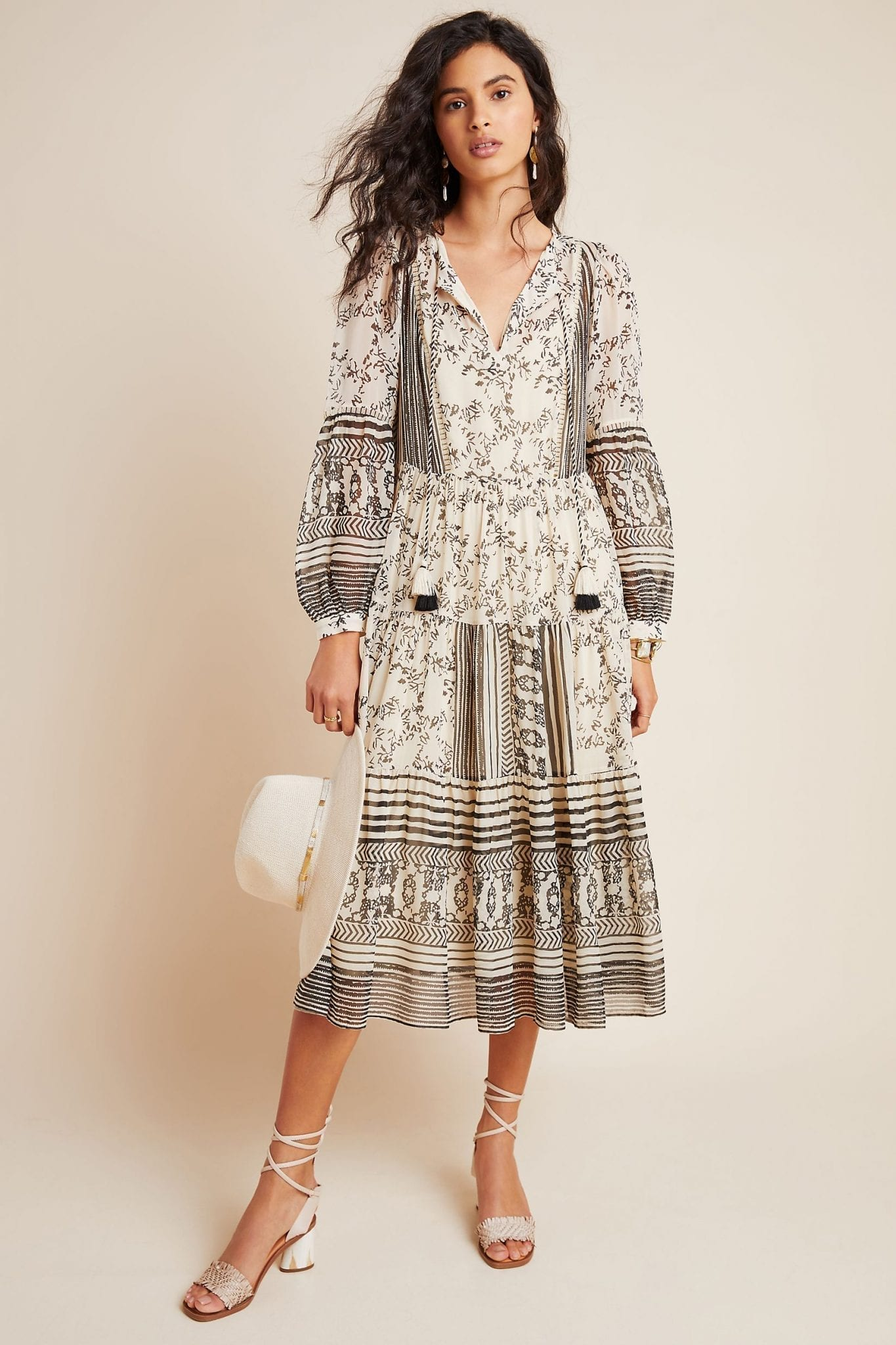 ANTHROPOLOGIE Talulah Tiered Midi Dress