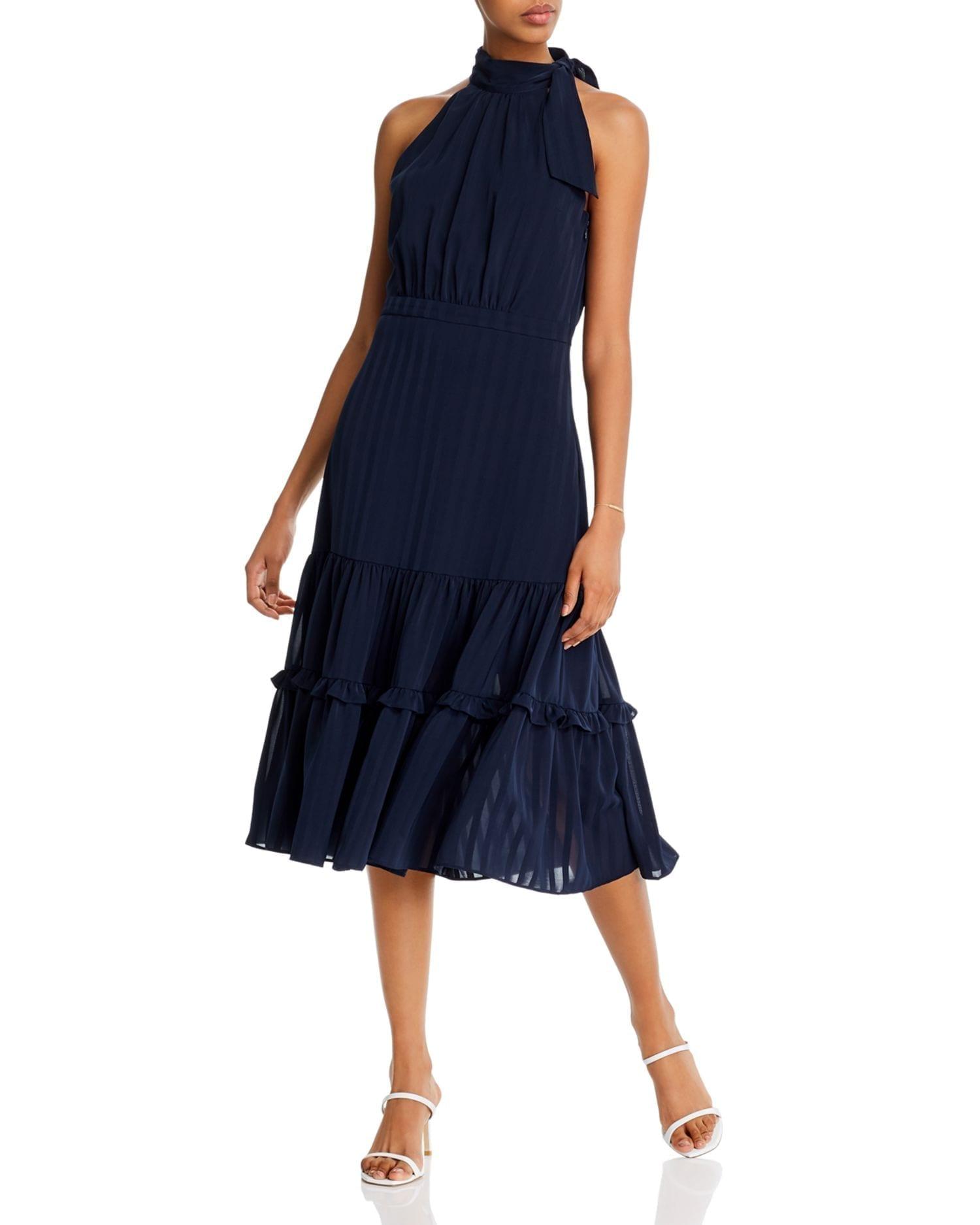 AQUA Shadow-Striped Dress