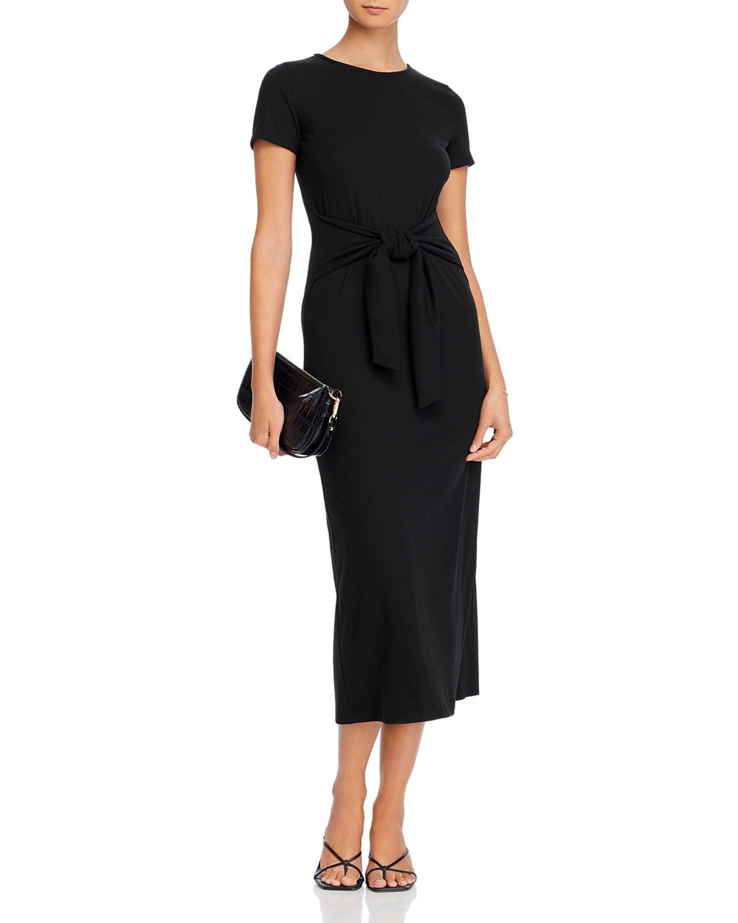 AQUA Tie-Waist Maxi Dress