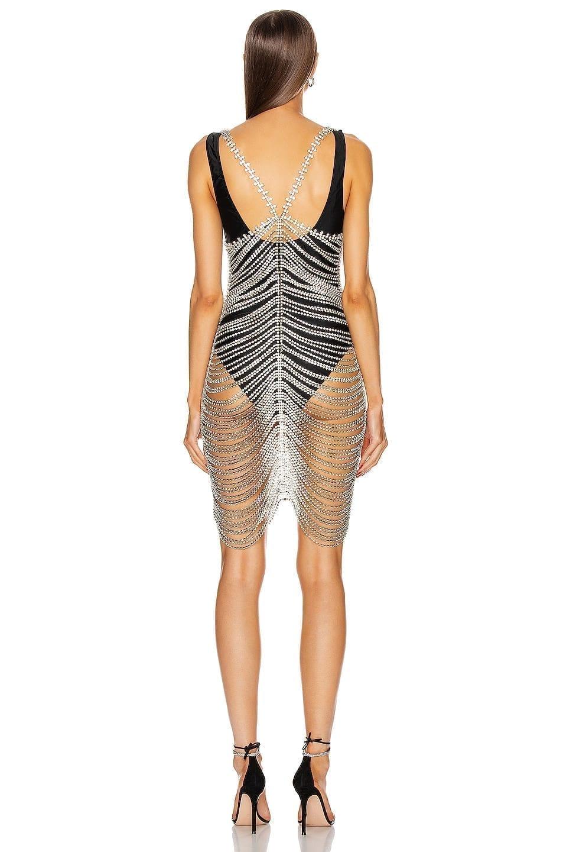 AREA Crystal Cupchain Slip Dress