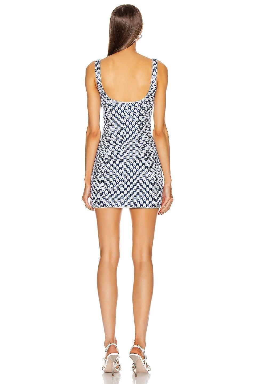 AREA Crystal Trim Tank Dress