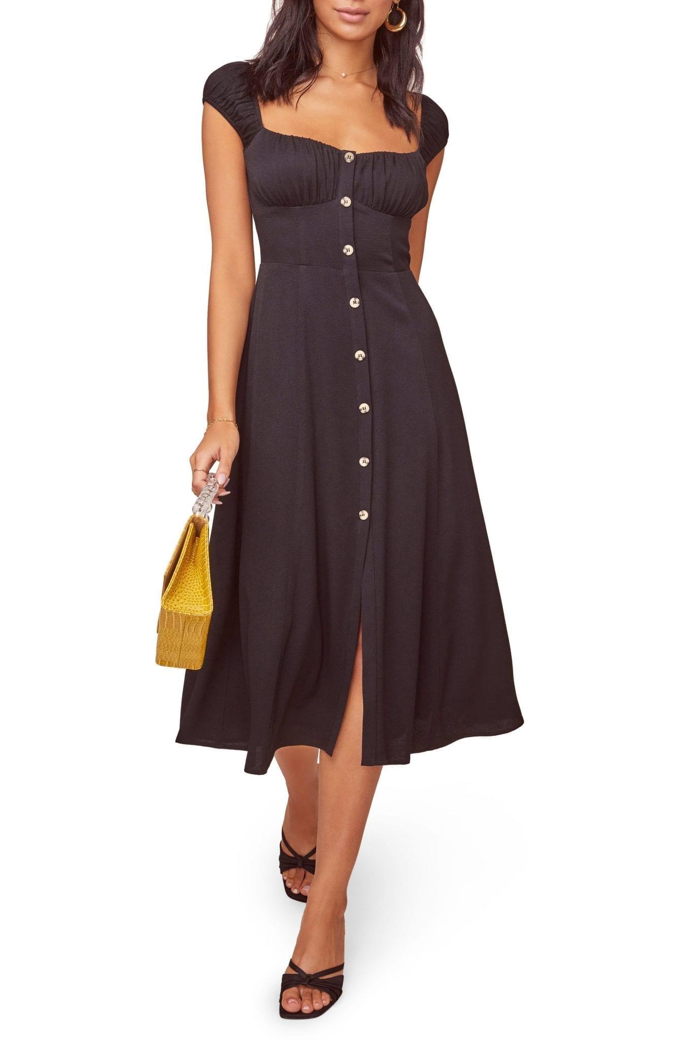 ASTR THE LABEL Bonjour Button Front Dress