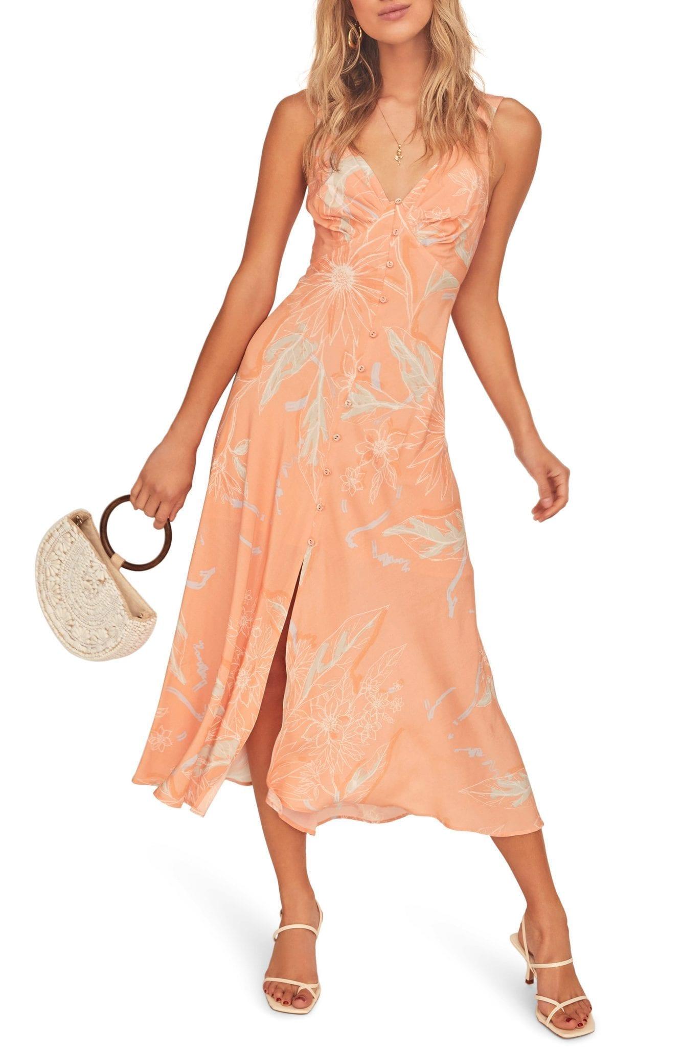 ASTR THE LABEL C'est La Vie Floral Print Maxi Dress