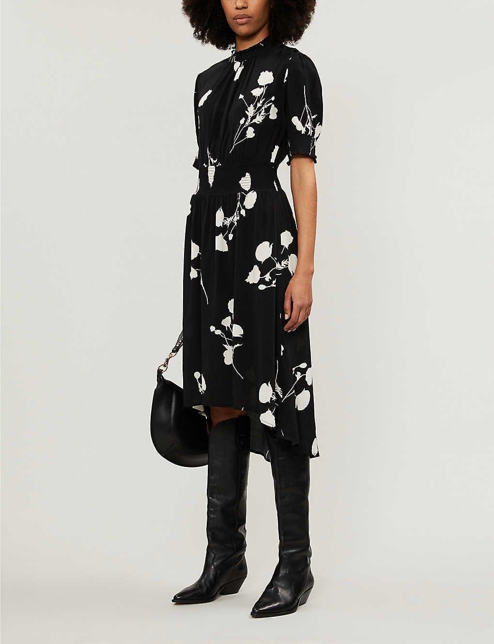 BA&SH Poppy Crepe Midi Dress
