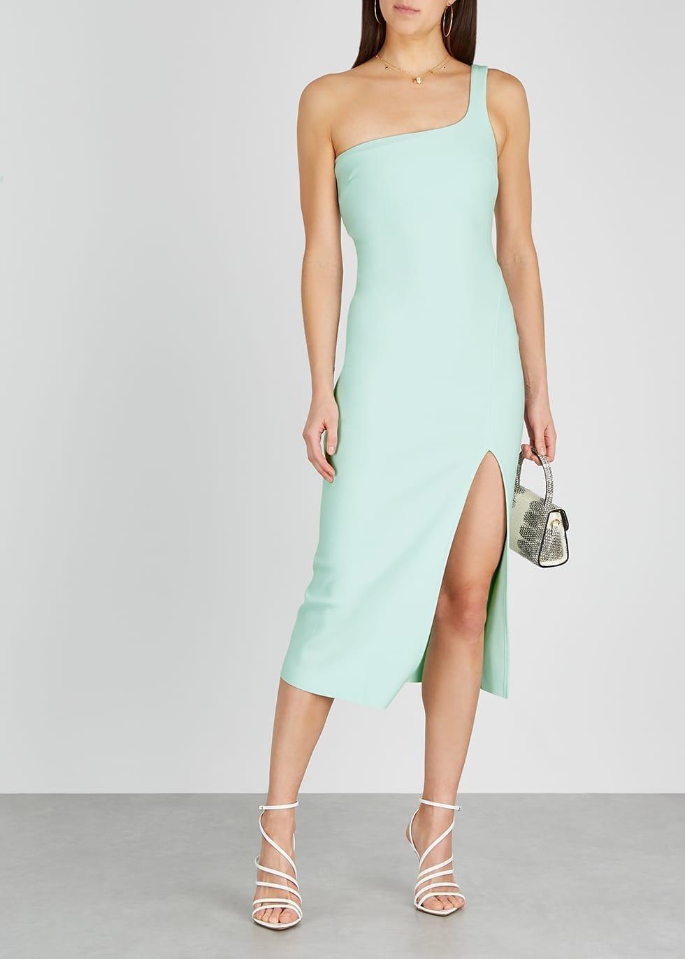 BEC & BRIDGE Ariel Mint One-shoulder Midi Dress