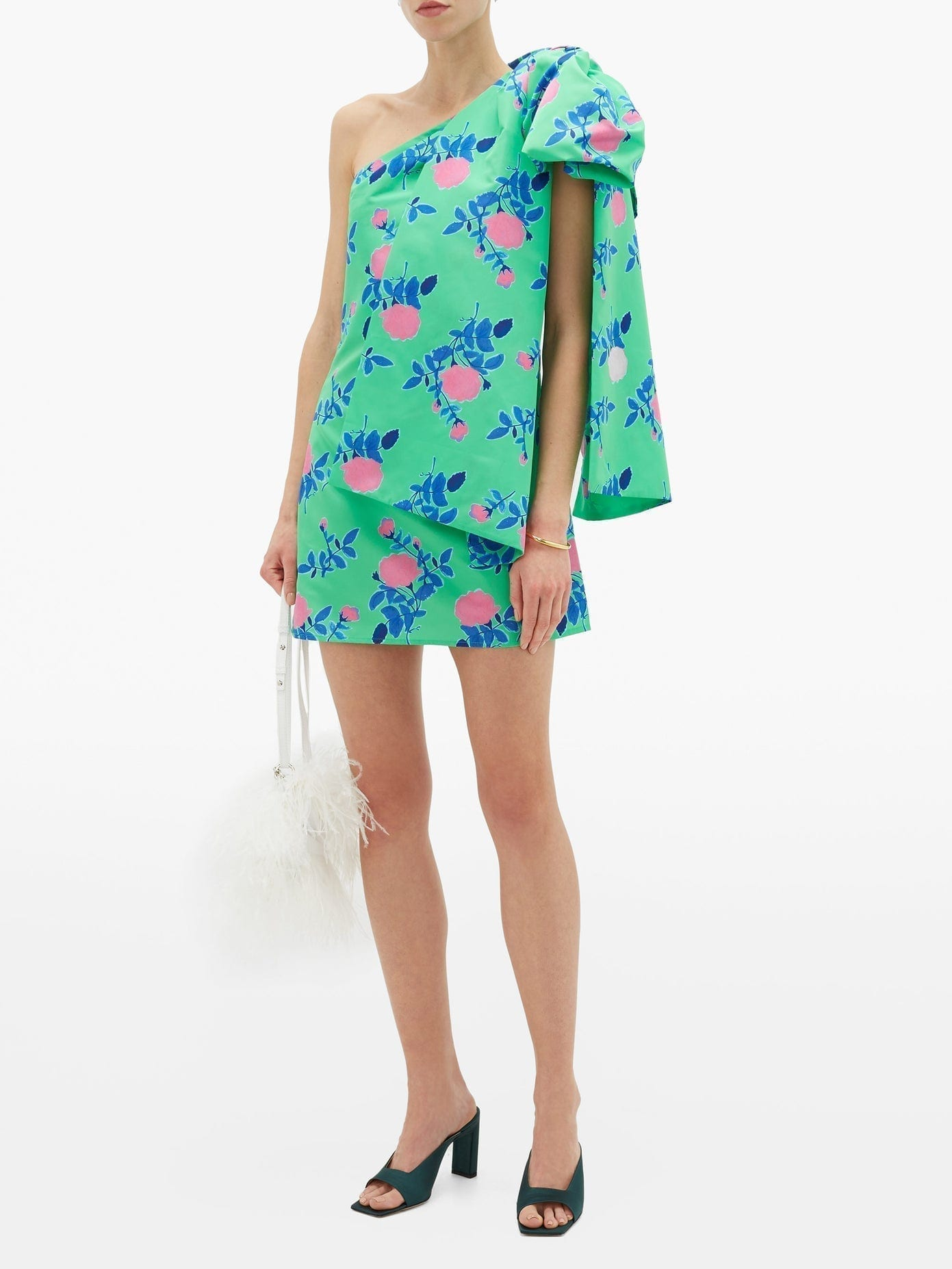 BERNADETTE Josselin Floral-Print Bow-Shoulder Dress