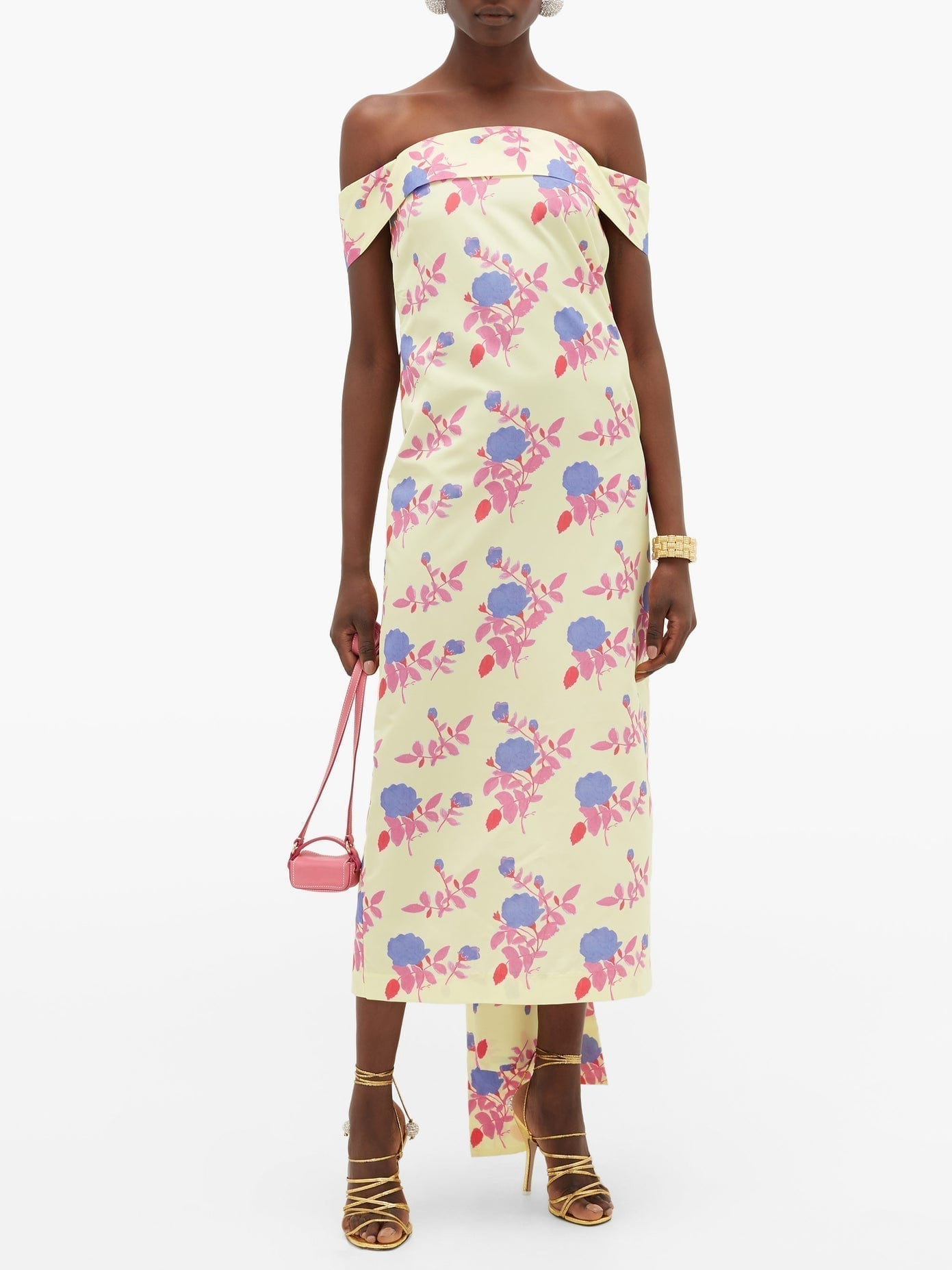 BERNADETTE Jullia Floral-Print Off-The-Shoulder Midi Dress