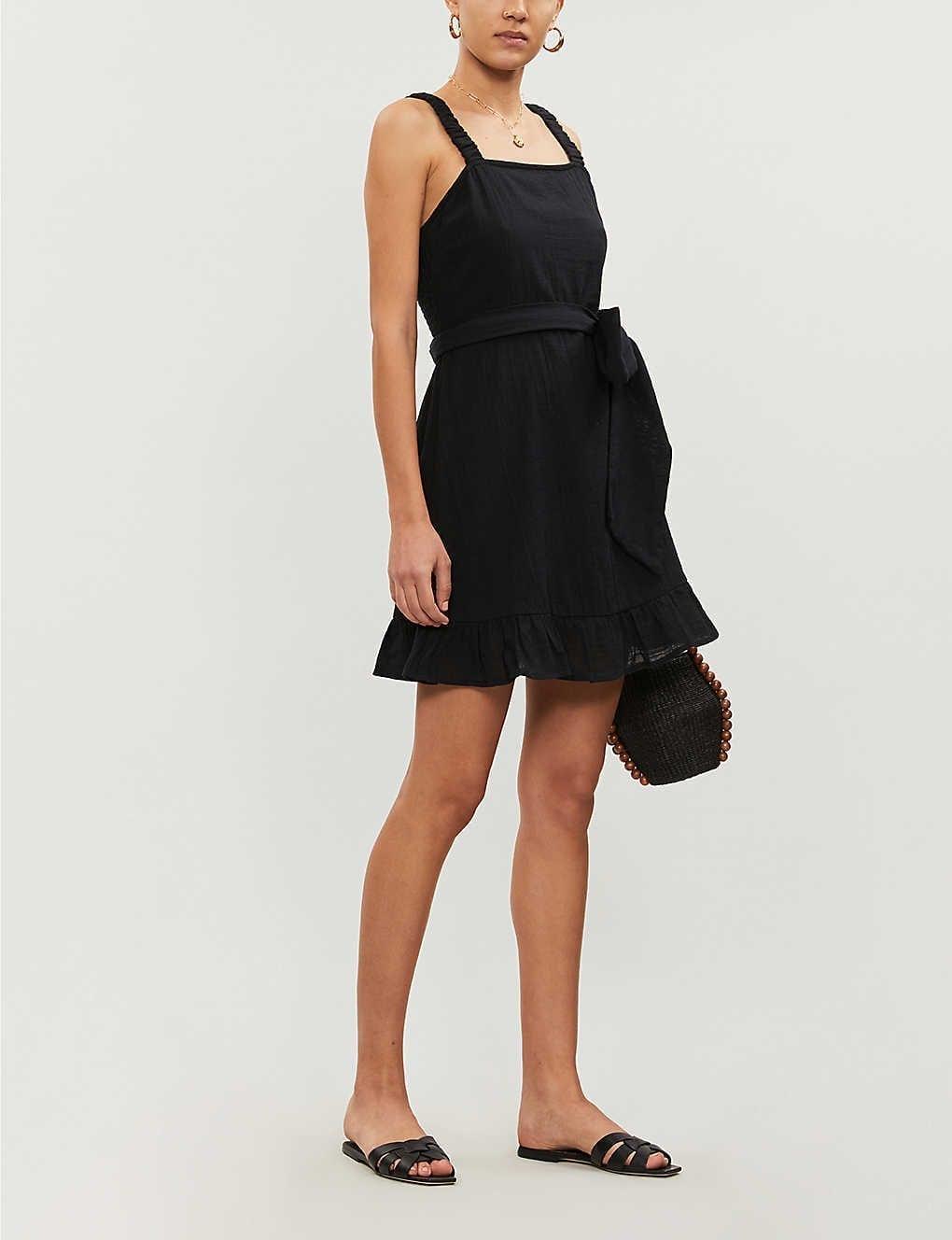 BILLABONG X SINCERELY JULES Saw It Coming Ruffled Cotton Mini Dress