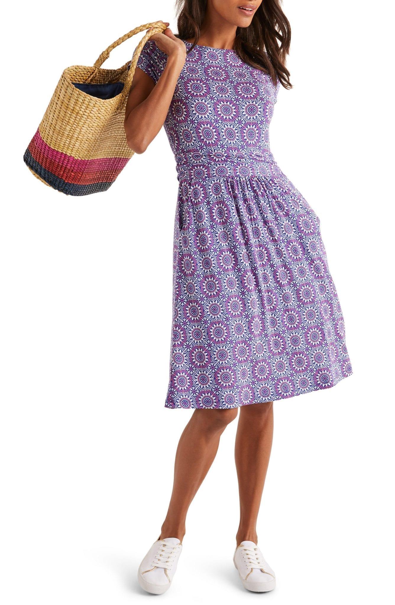 BODEN Amelie Print Jersey Dress