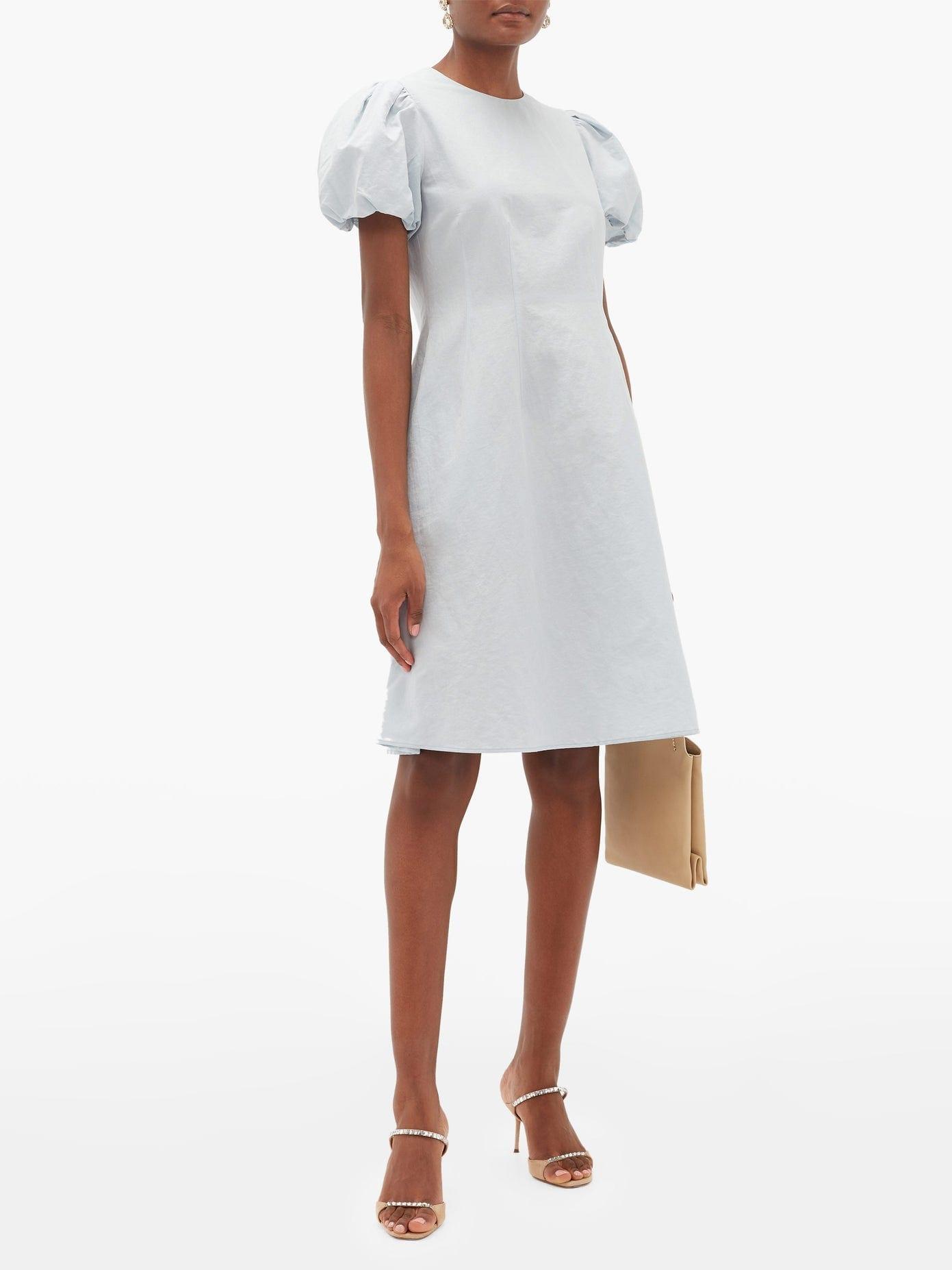 BROCK COLLECTION Puffed-sleeve Cotton-blend Dress