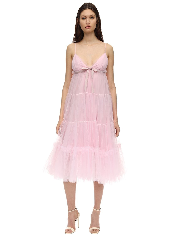 BROGNANO Tulle Midi Dress