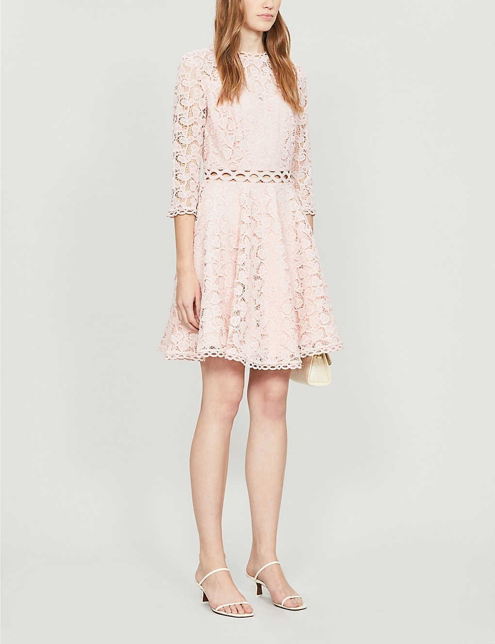 CLAUDIE PIERLOT Rosiere Lace Midi Dress
