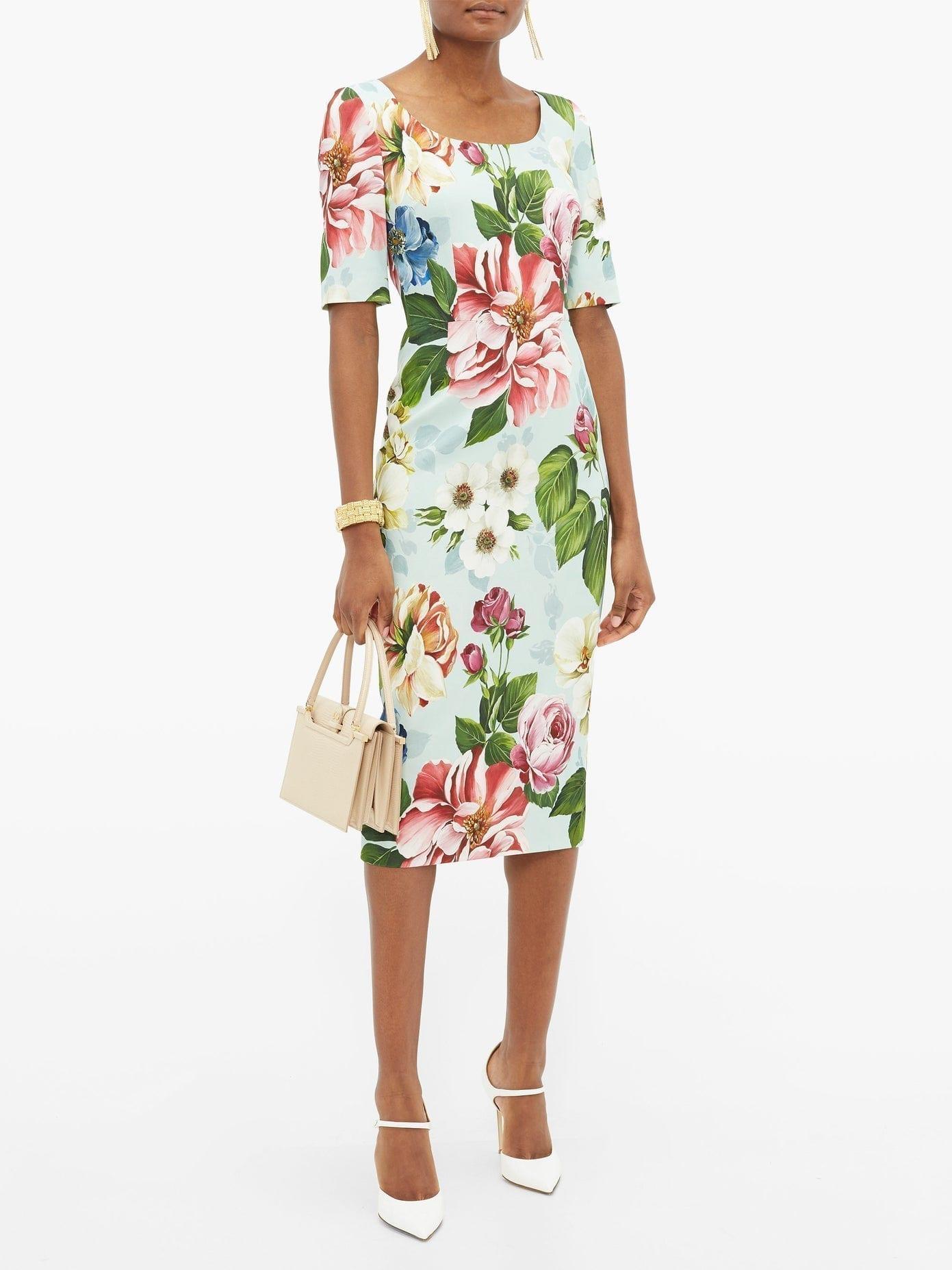 DOLCE & GABBANA Floral-Print Cady Pencil Dress