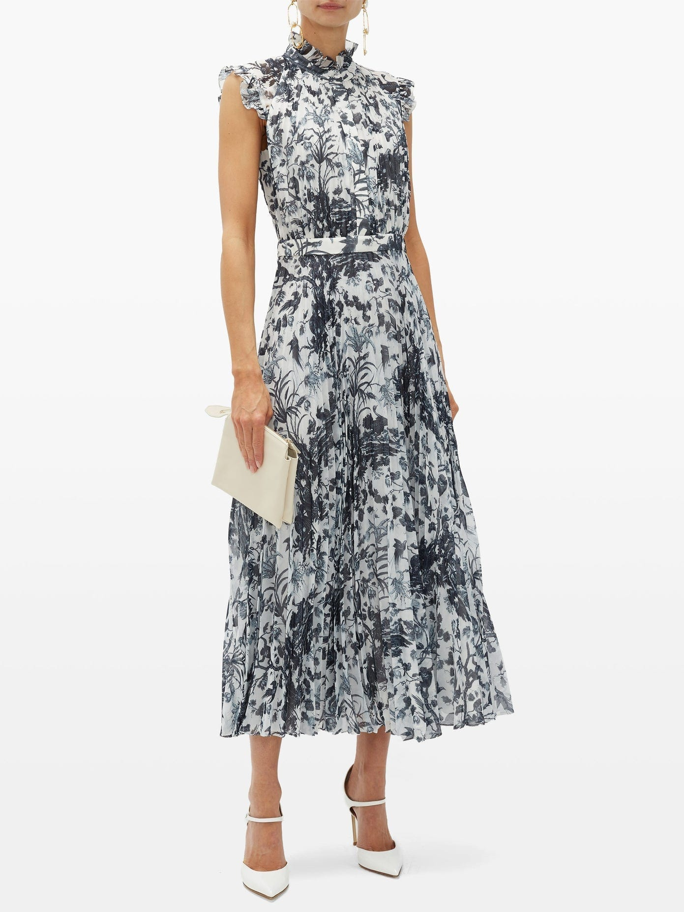 ERDEM Roisin Frida Toile De Jouy-print Voile Dress