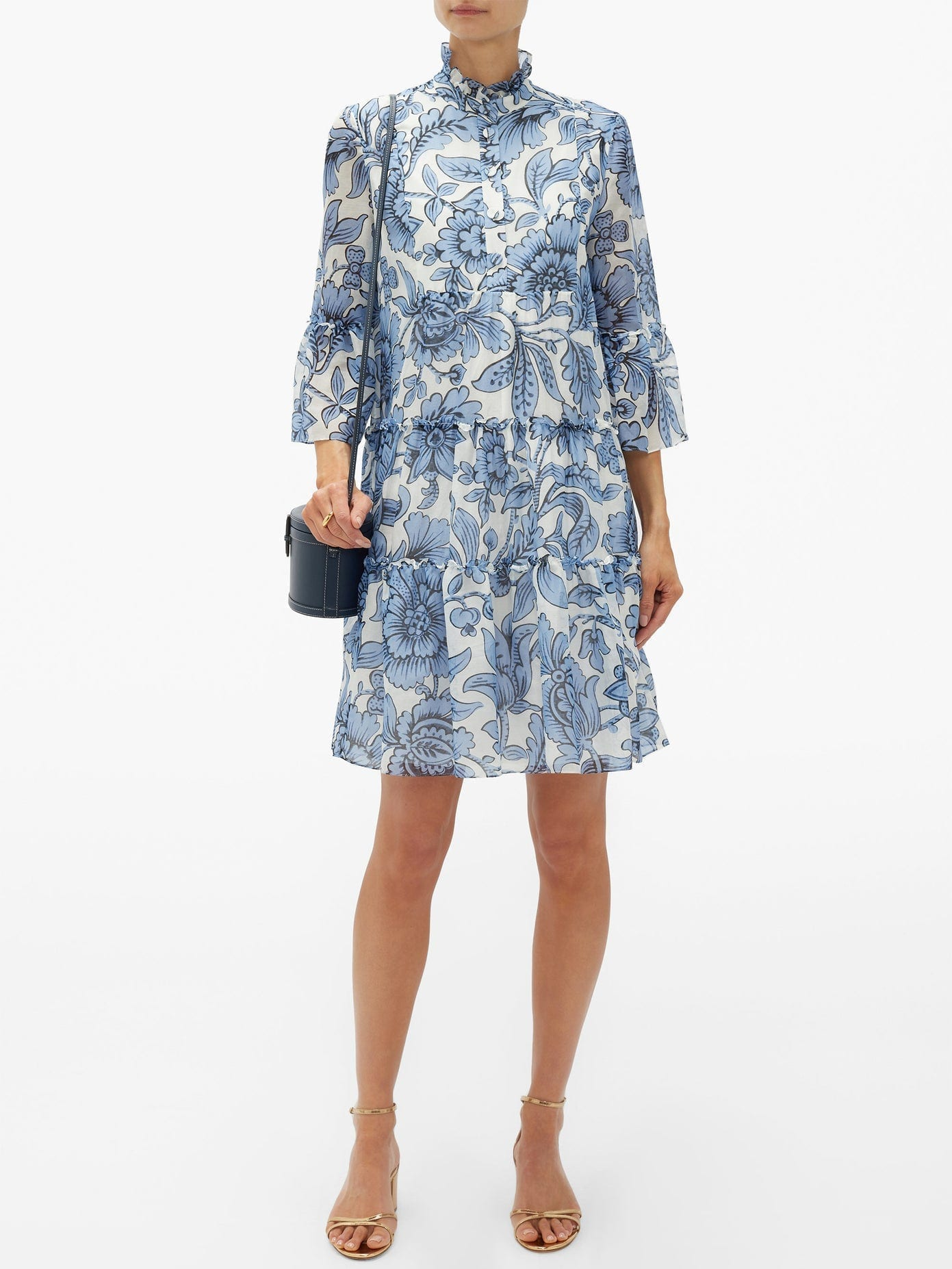 ERDEM Wyn Modotti Wallpaper Cotton-blend Mini Dress