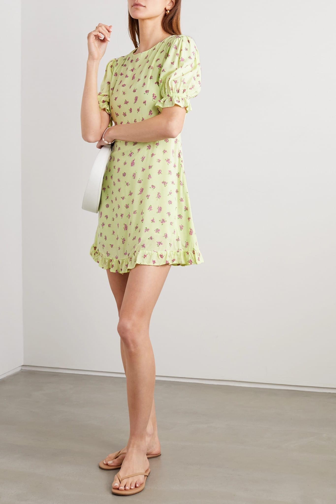 FAITHFULL THE BRAND Florence Ruffled Floral-print Crepe Mini Dress