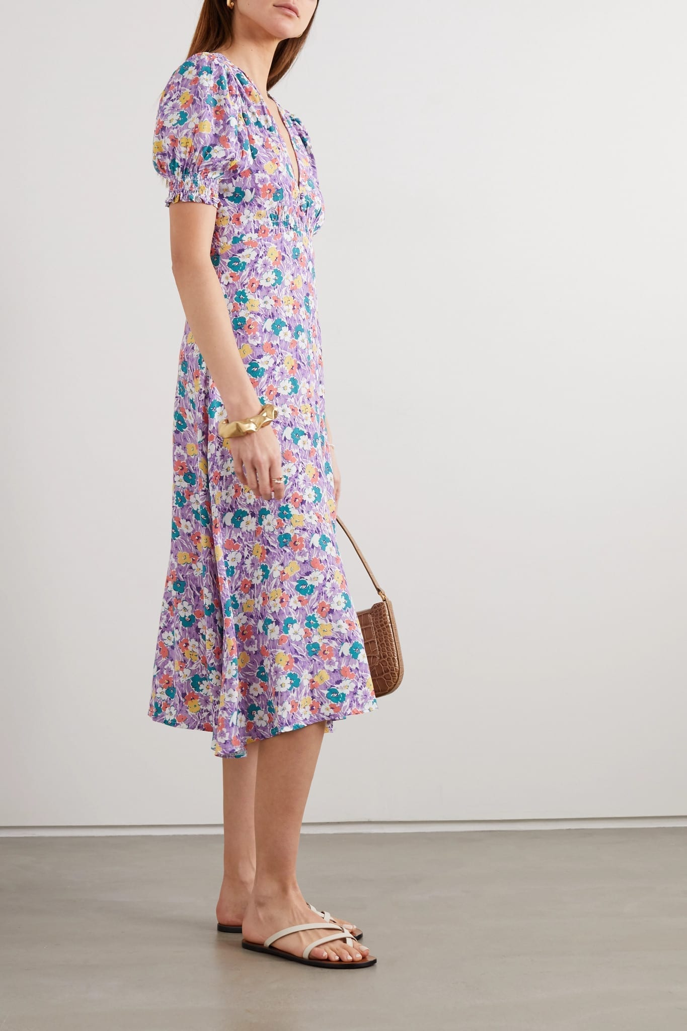 FAITHFULL THE BRAND Marie-louise Floral-print Crepe Midi Dress
