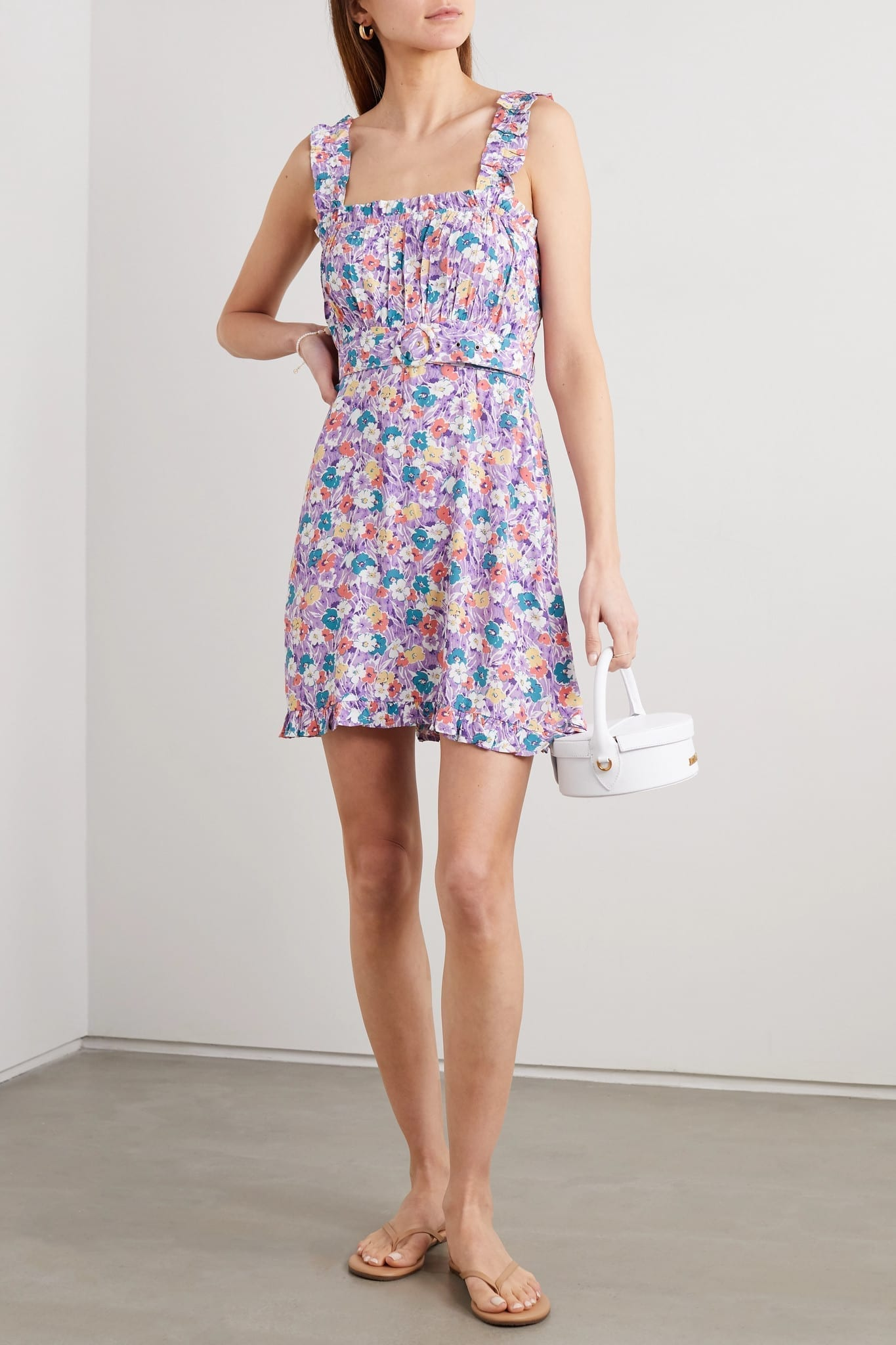 FAITHFULL THE BRAND Mid Summer Floral-print Crepe Mini Dress