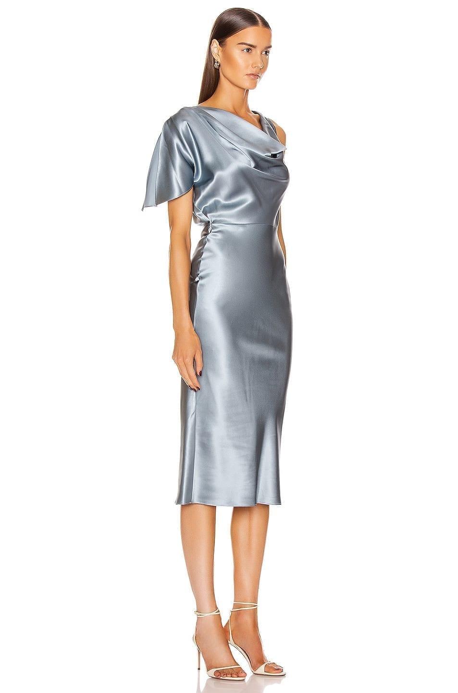 FLEUR DU MAL Asymmetrical Cowl Dress