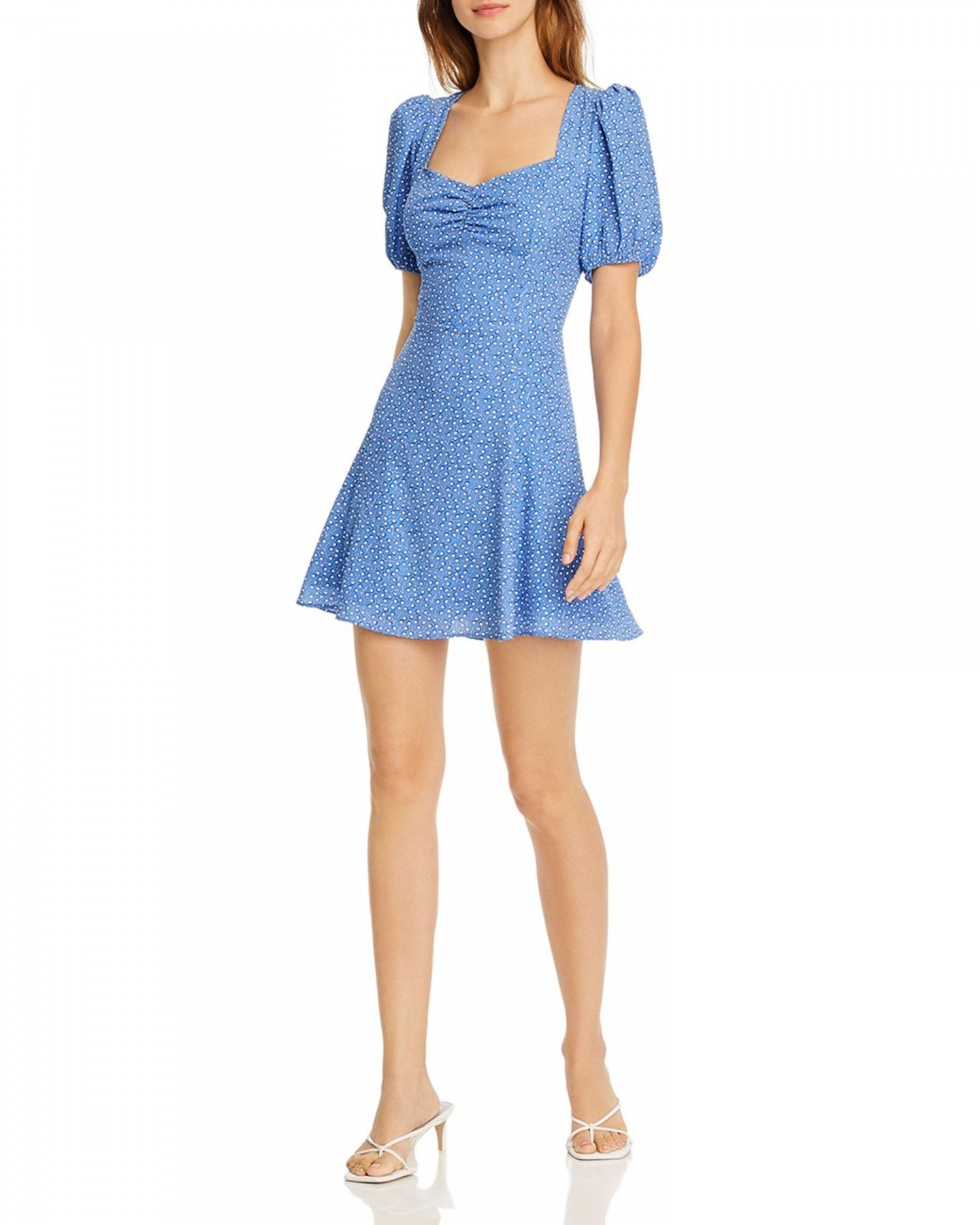 FRENCH CONNECTION Verona Puff-Sleeve Dress