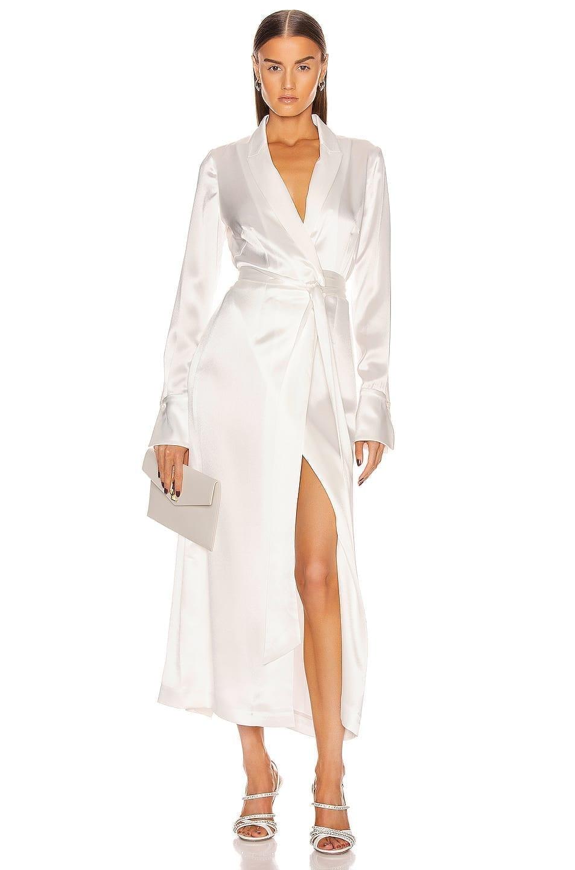 GALVAN Callisto Wrap Coat Dress