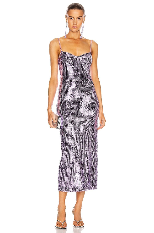 GALVAN Mirrored Berlin Bustier Dress