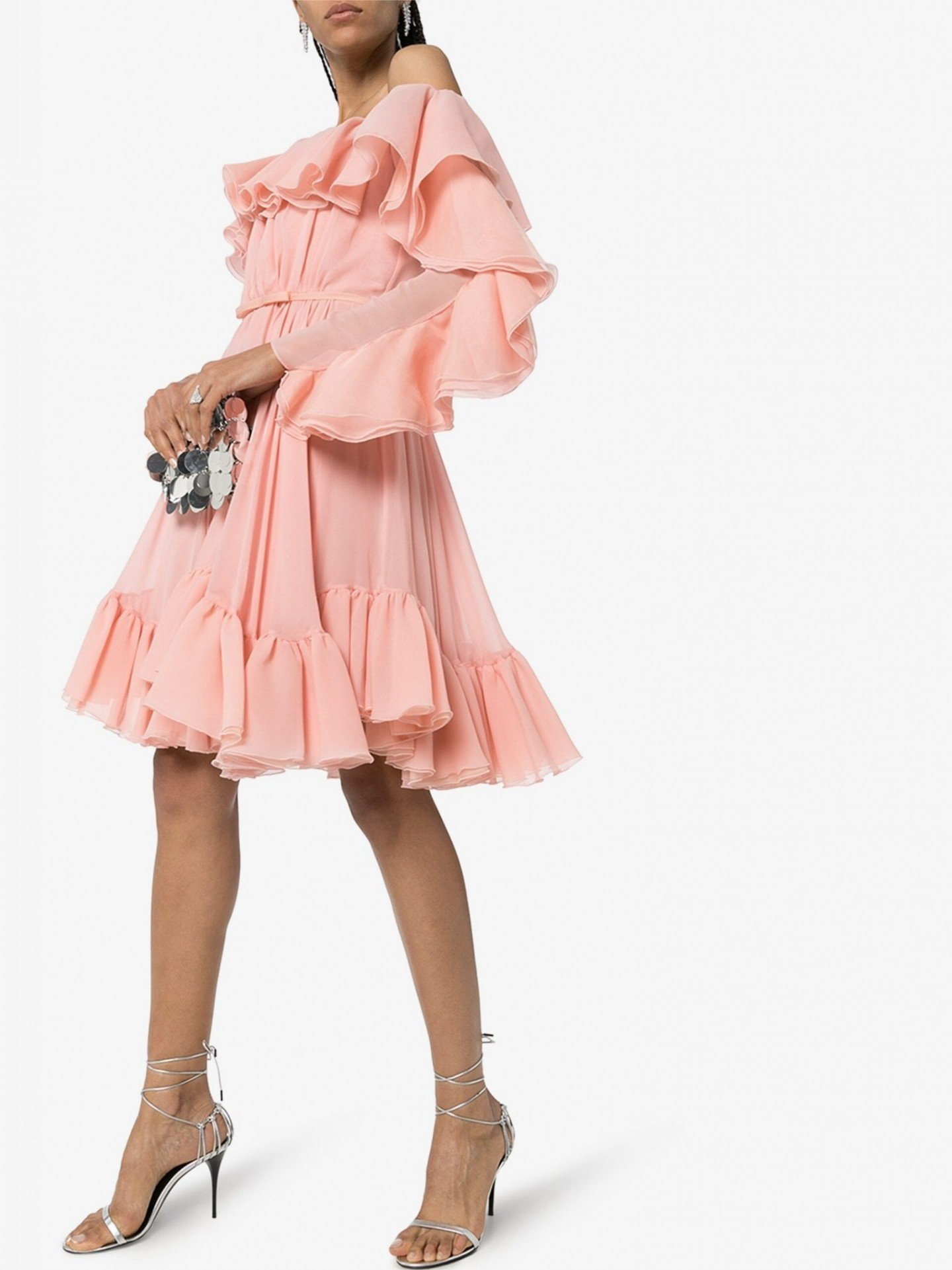GIAMBATTISTA VALLI Off-The-Shoulder Ruffled Mini Dress