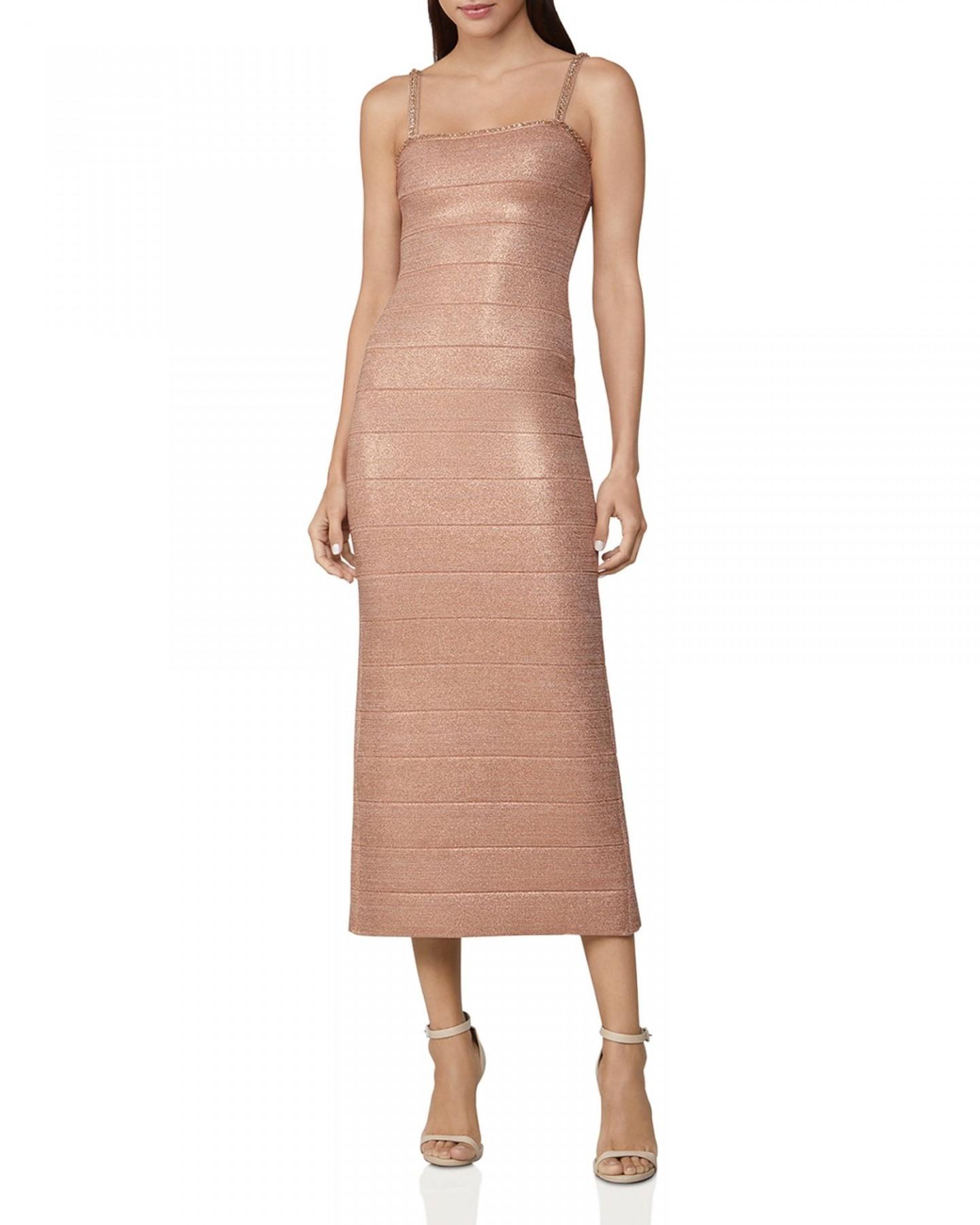 HERVÉ LÉGER Banded Crystal-Embellished Midi Dress