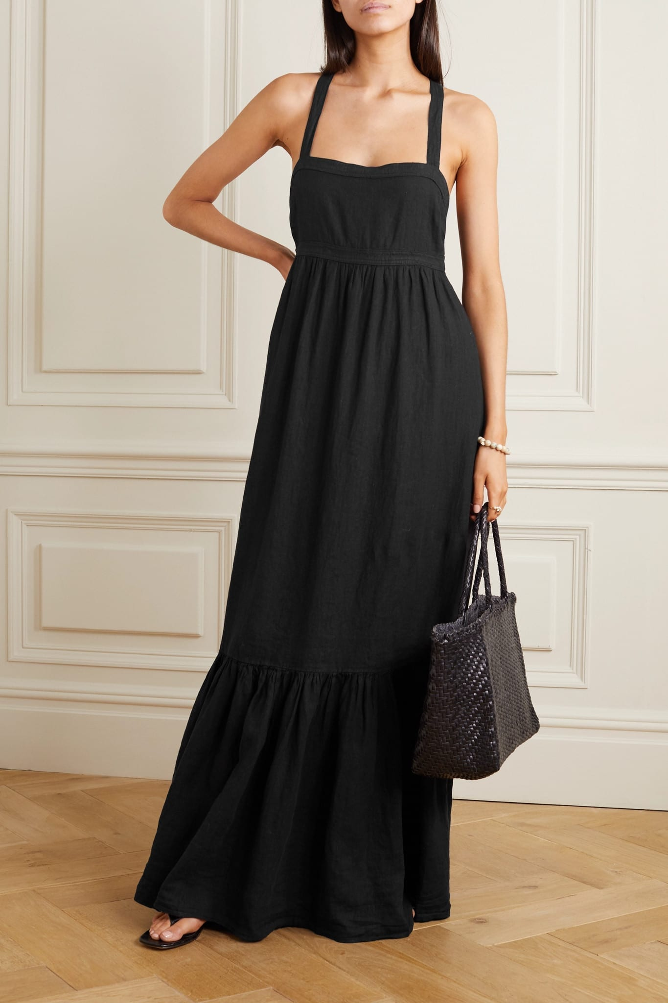 HONORINE Athena Tiered Maxi Dress