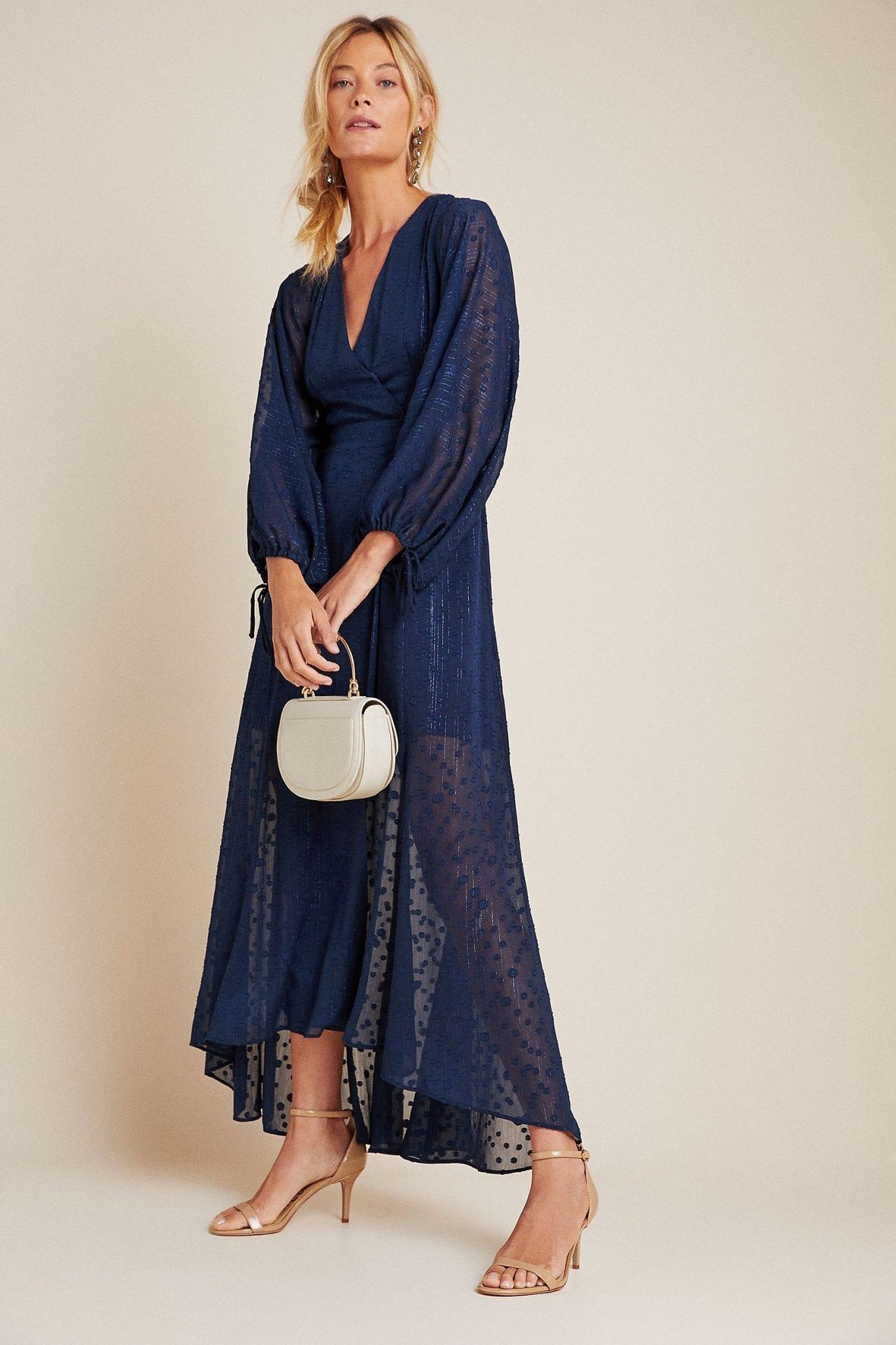 HUTCH Leigh Wrap Maxi Dress