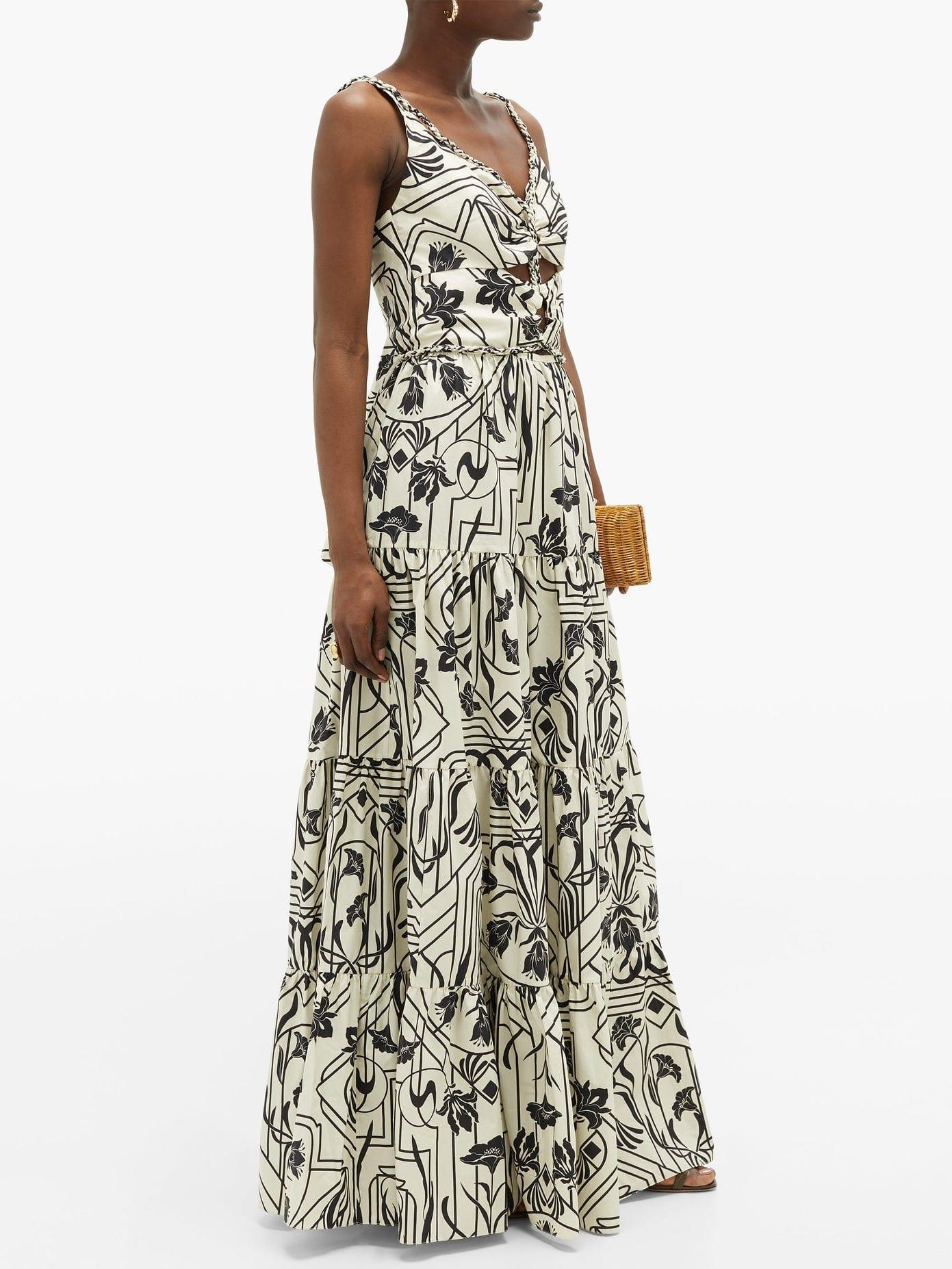 JOHANNA ORTIZ Architecture Floral-print Cotton Maxi Dress