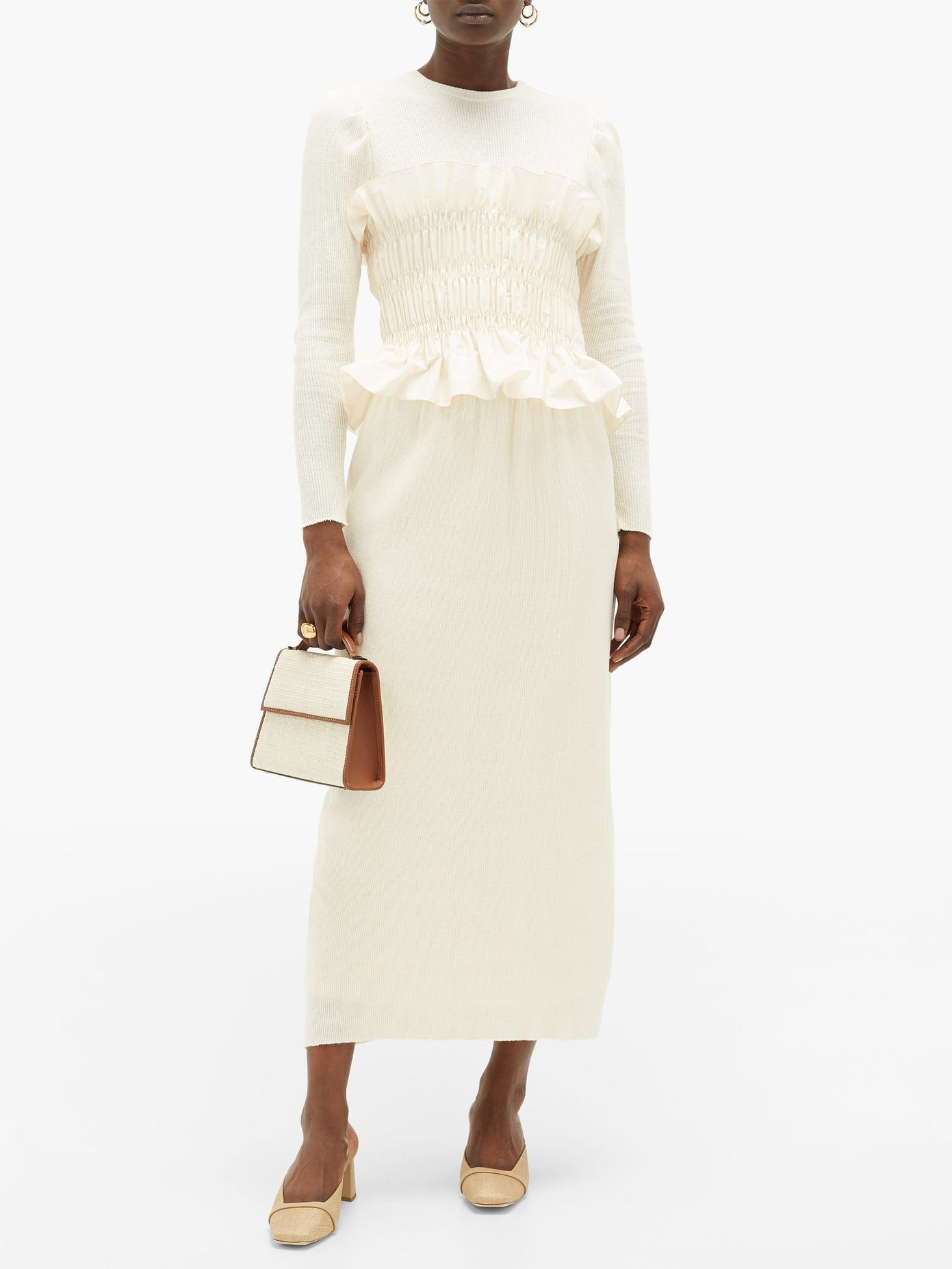 JOHANNA ORTIZ Enlightened Moments Knitted Cotton Dress