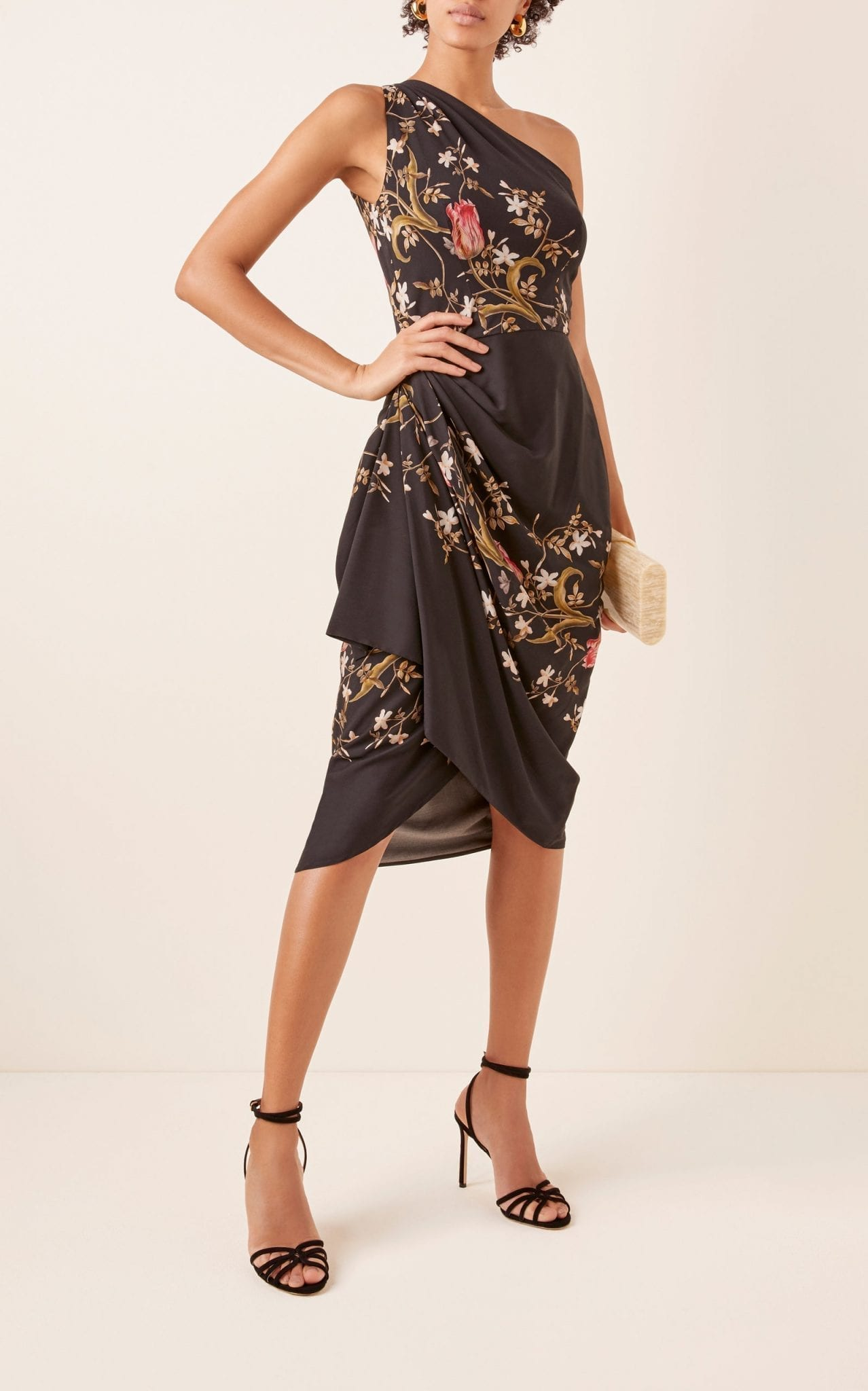 LENA HOSCHEK Voodoo Printed Crepe Dress
