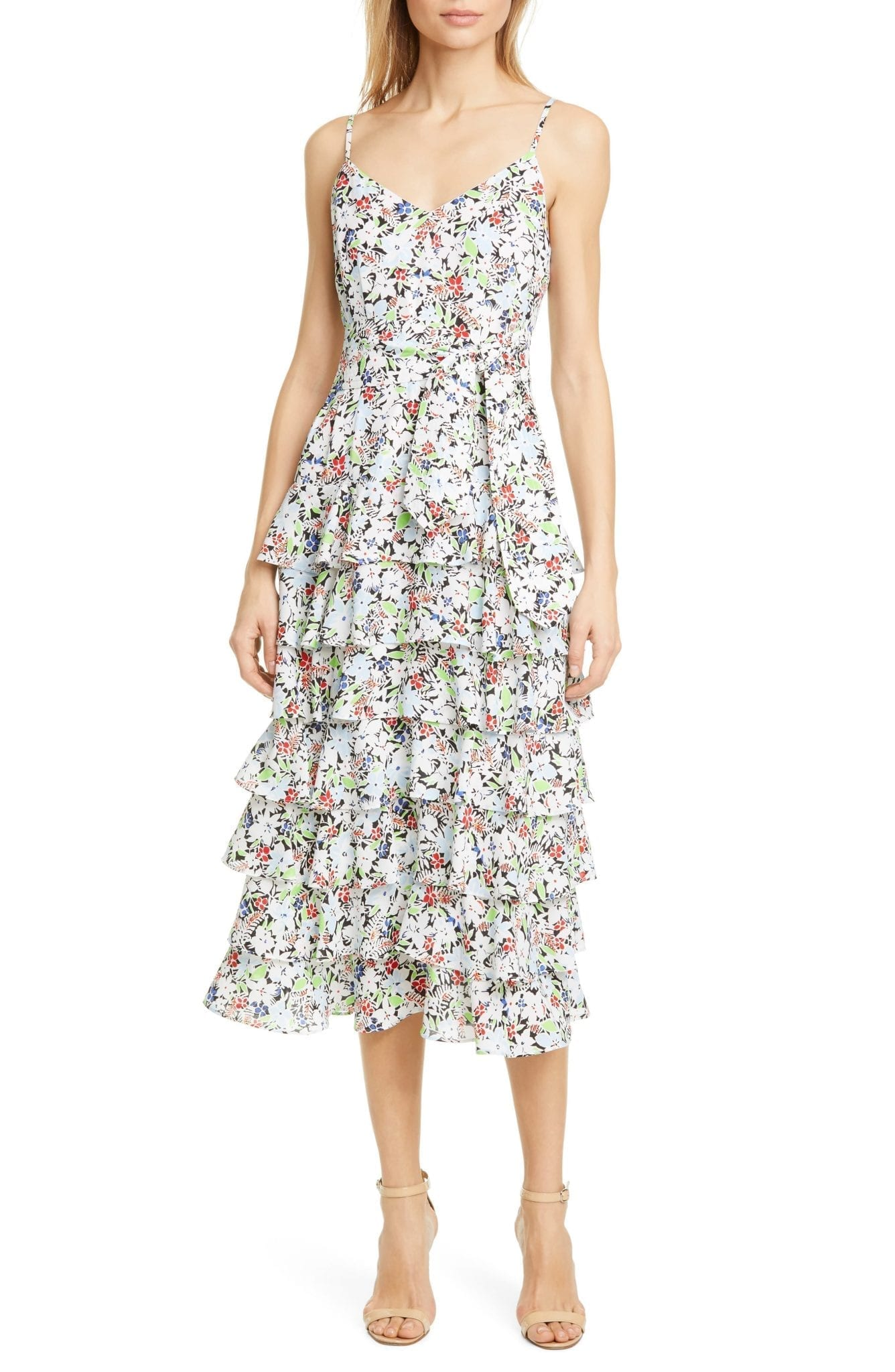 LIKELY Ariella Floral Tiered Ruffle Sun Dress