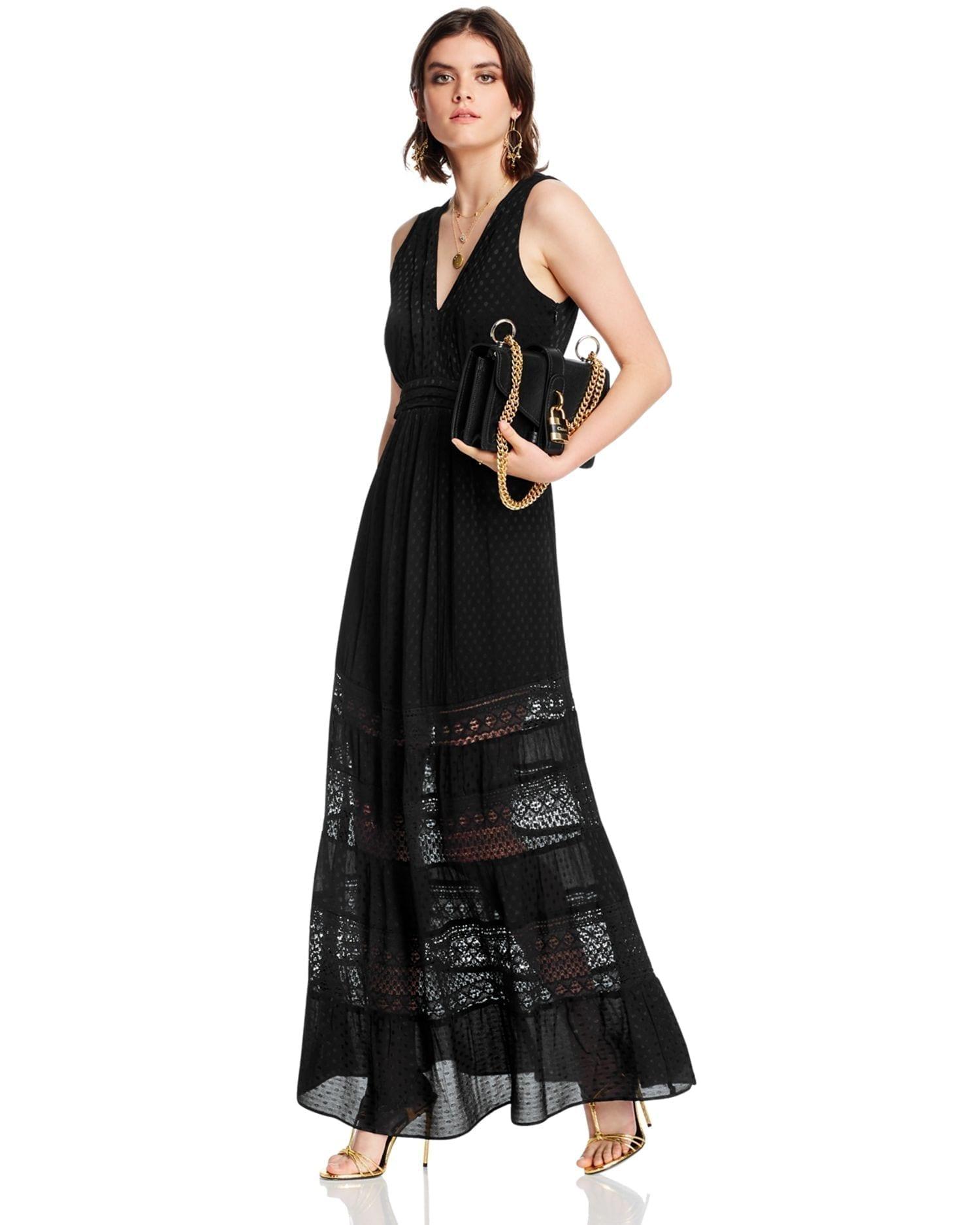 LINI Gabriella Tiered Empire-Waist Dress