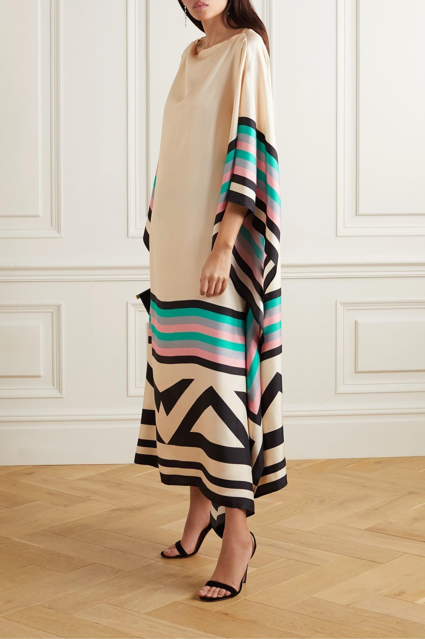 LOUISA PARRIS Eliza Printed Silk-twill Maxi Dress
