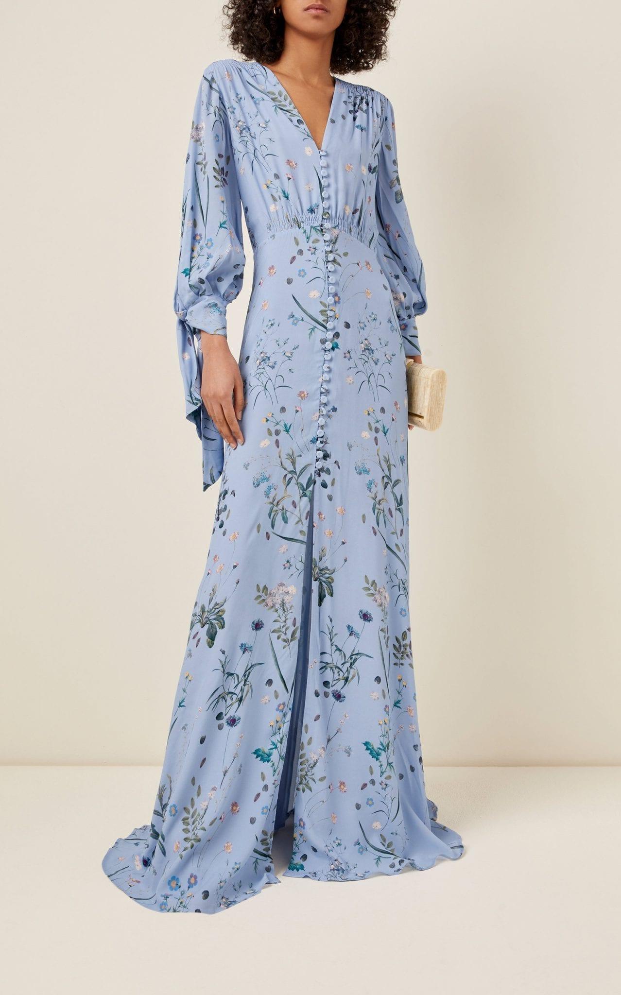 LUISA BECCARIA Floral-Print Crepe Maxi Dress
