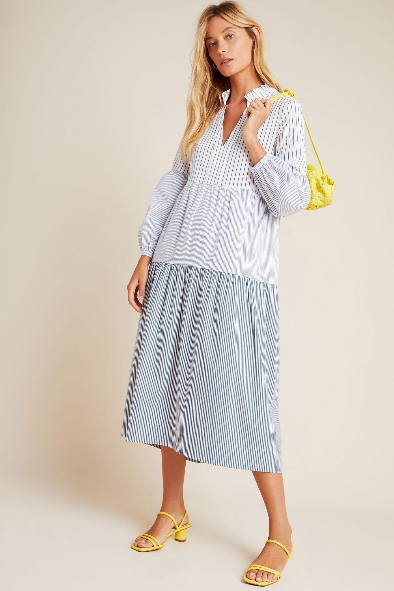 MAEVE Bonnie Tiered Midi Dress